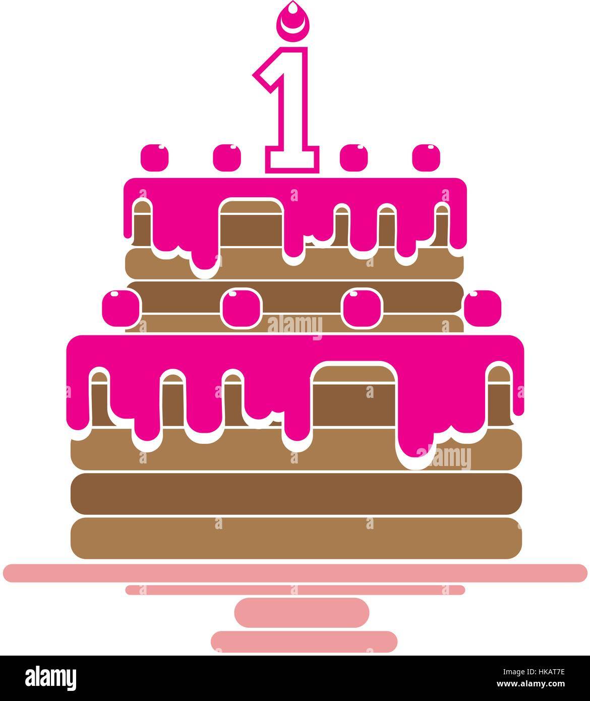 The birthday cake with candles in the form of number 1 icon the birthday cake with candles in the form of number 1 icon birthday symbol flat vector illustration button buycottarizona