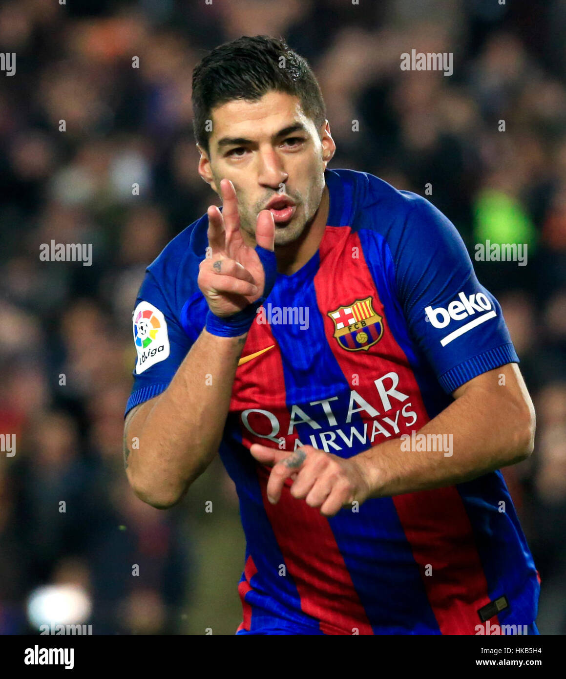 Barcelona Spain 26th Jan 2017 FC Barcelona s Luis Suarez Stock