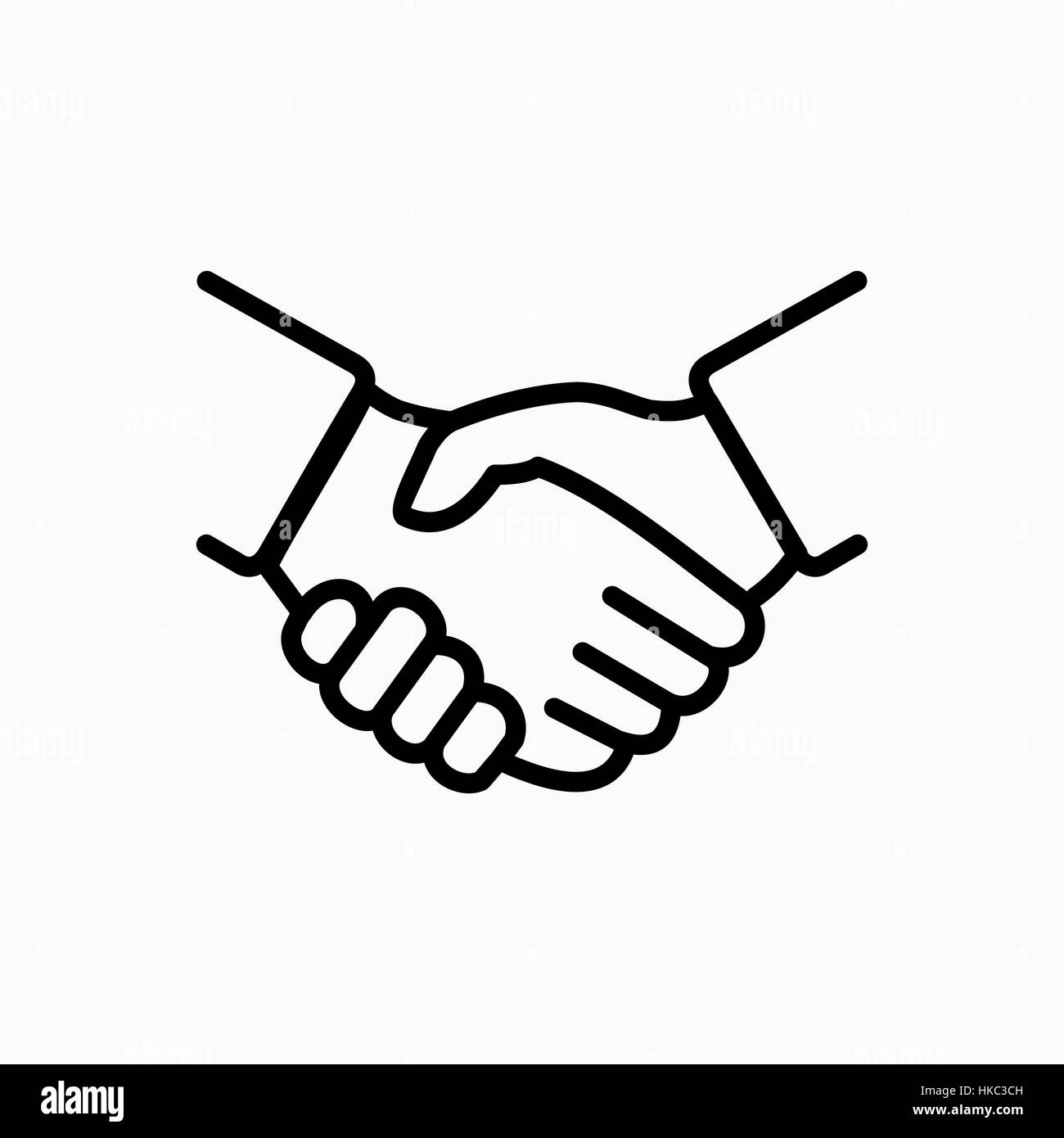 handshake icon simple vector illustration deal or partner agreement stock vector art