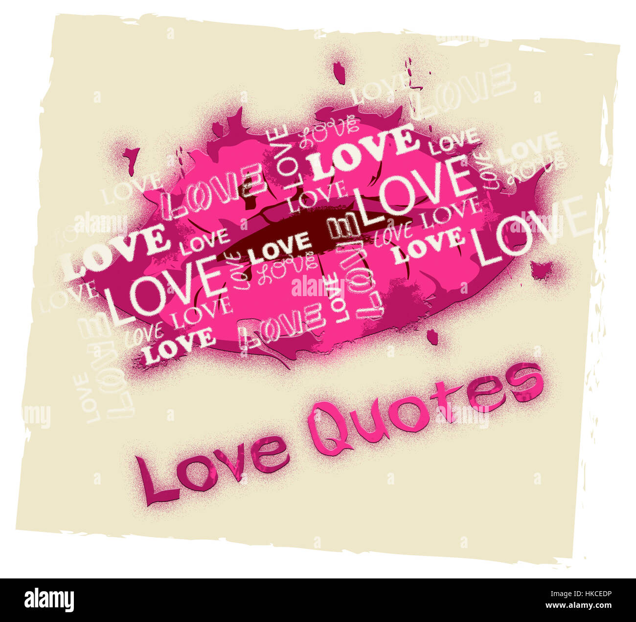 Free Love Quotes Love Quotes Lips Shows Loving Inspiration And Affection Stock