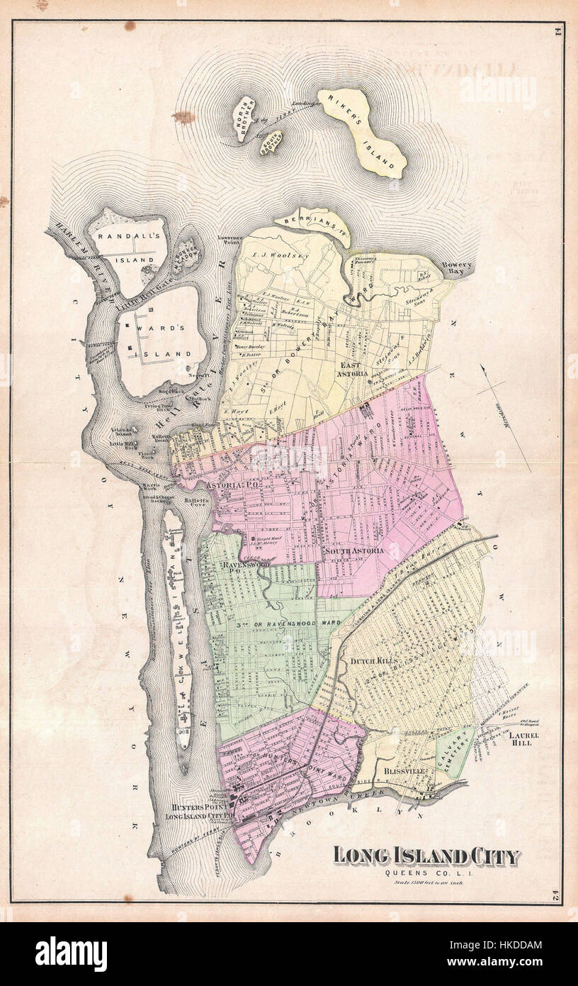 Beers Map Of Astoria And Long Island City Queens New York - Nyc map long island city