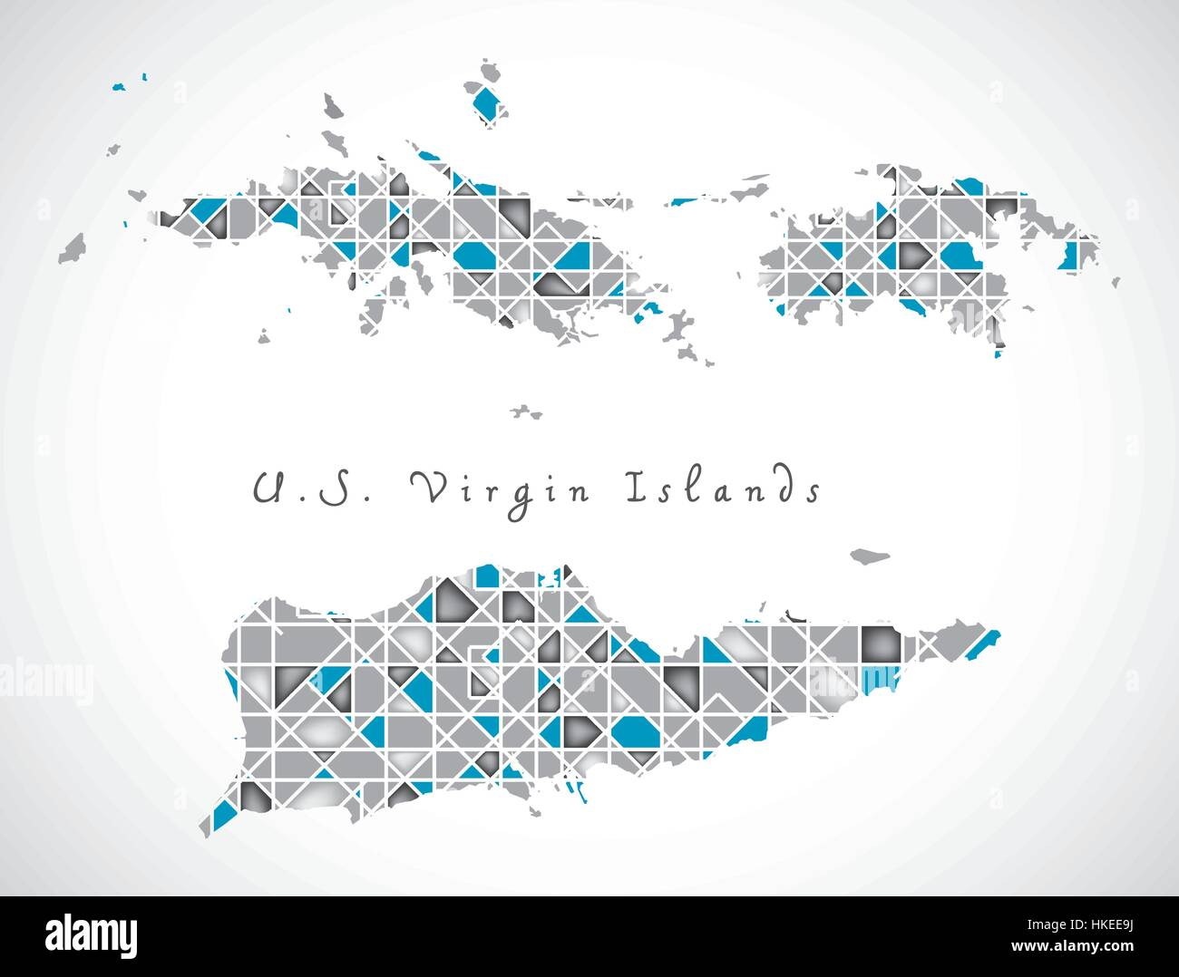 us virgin islands map crystal diamond style artwork ilration