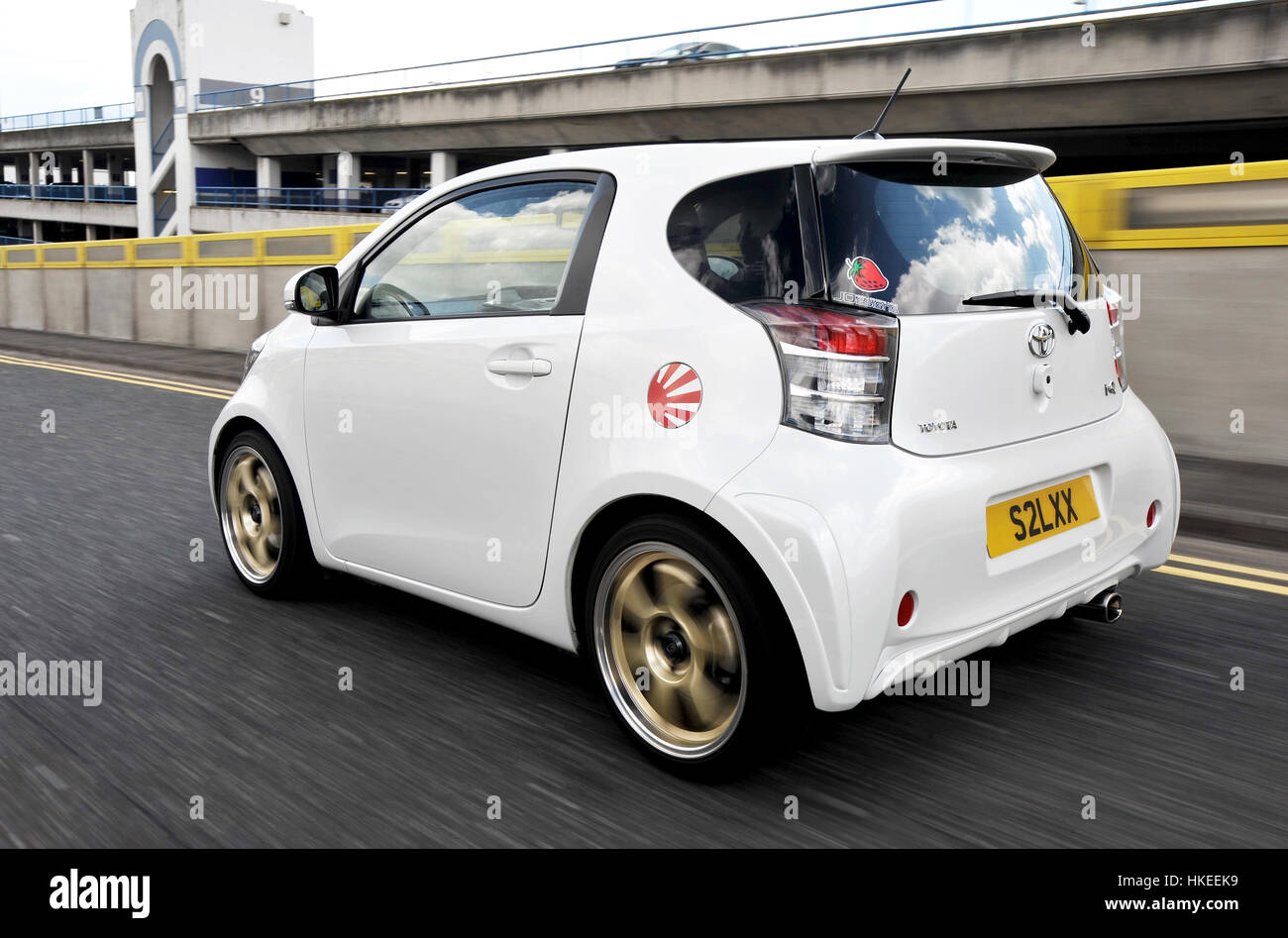 modified toyota iq sub compact city car stock photo royalty free image 132469885 alamy. Black Bedroom Furniture Sets. Home Design Ideas