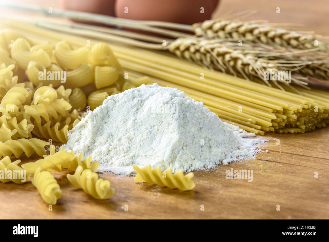 The Concept Of Producing Different Types Of Pasta Made From Flour ...