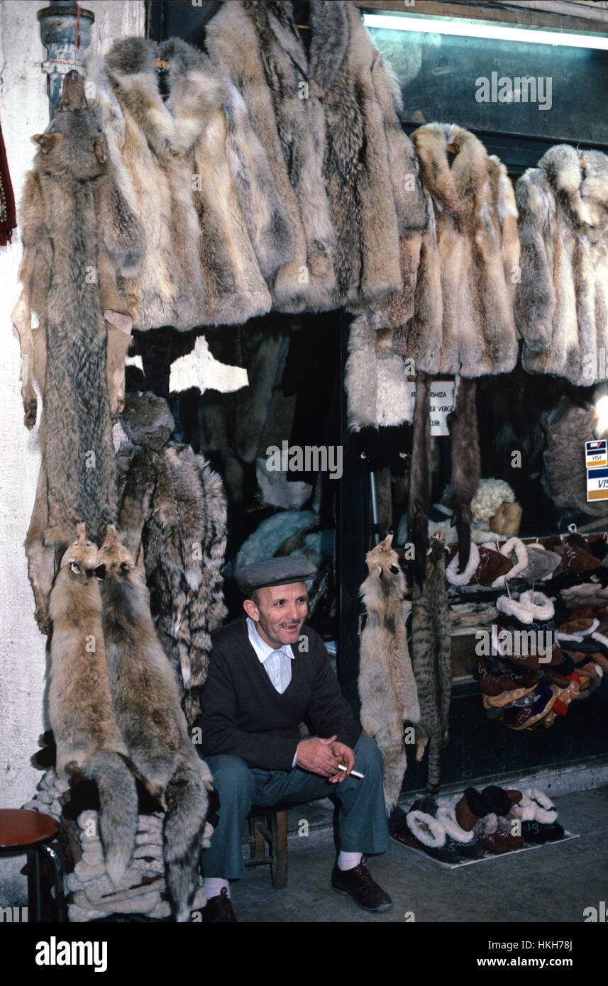 Fur Salesman Selling Fox Furs Skins And Natural Fur Coats Grand ...