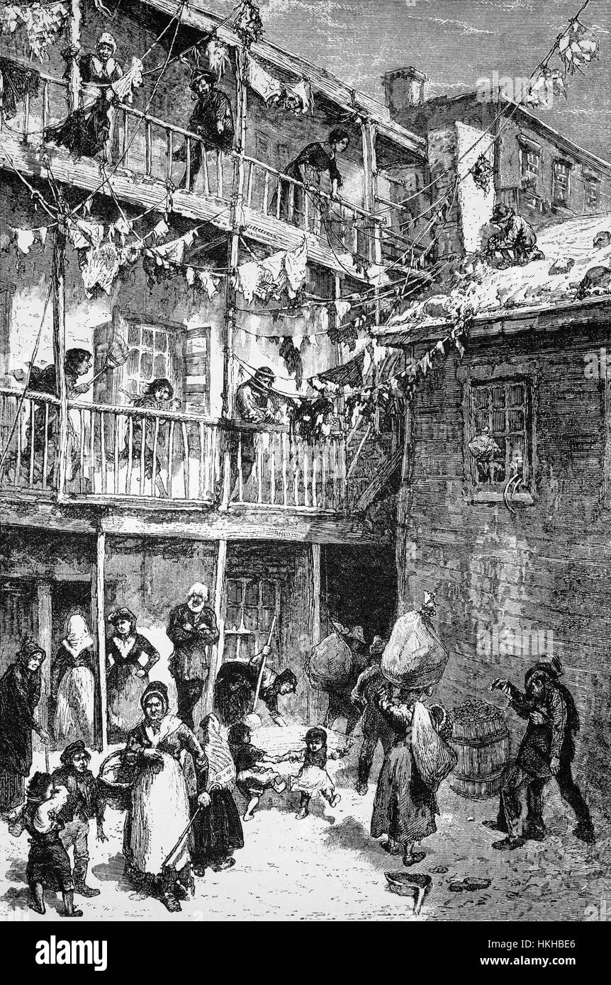 1879: Rag-picker Court In Mulberry Street, Home Of The Rag Pickers ...