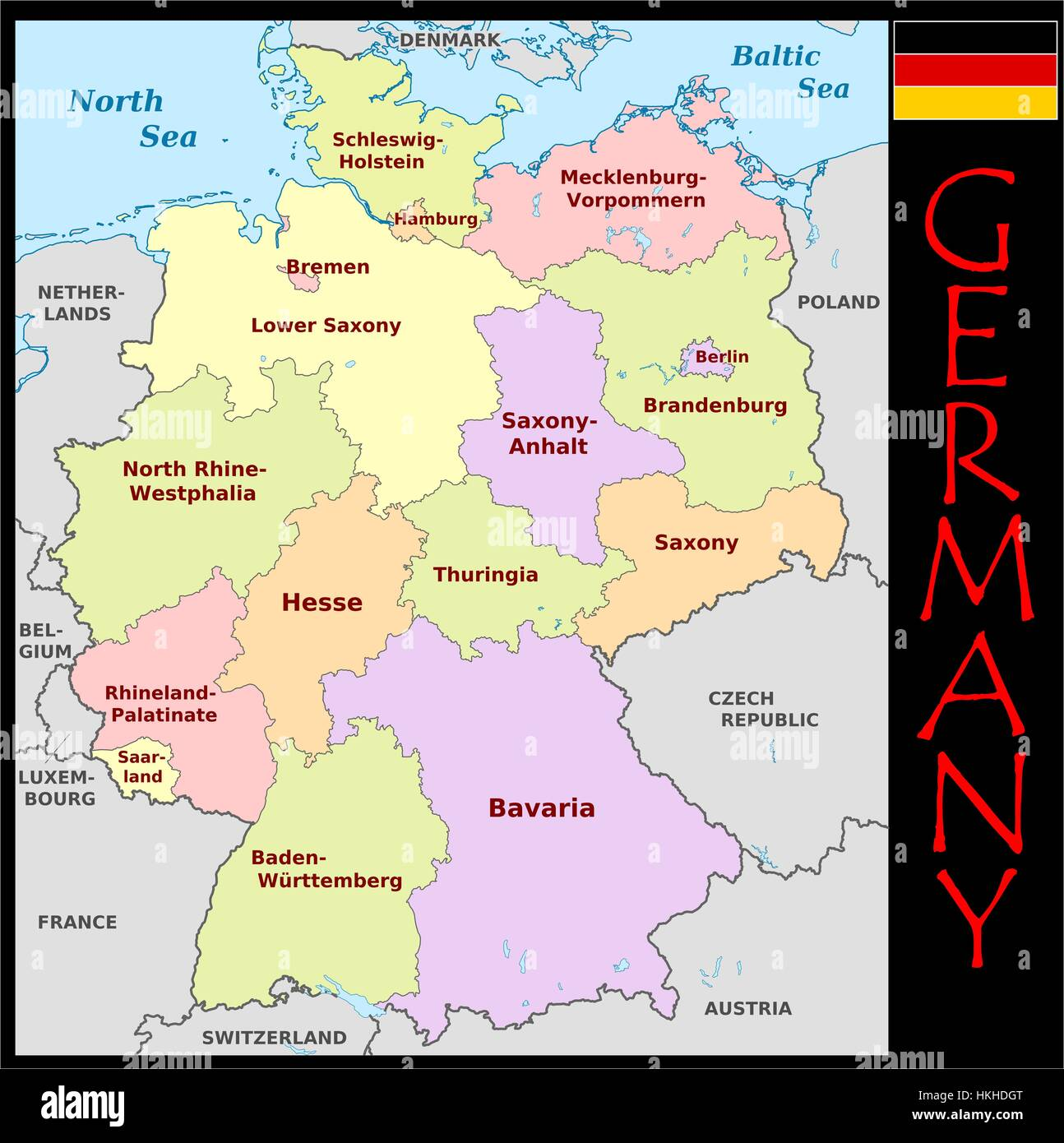 Germany administrative divisions Stock Photo Royalty Free Image
