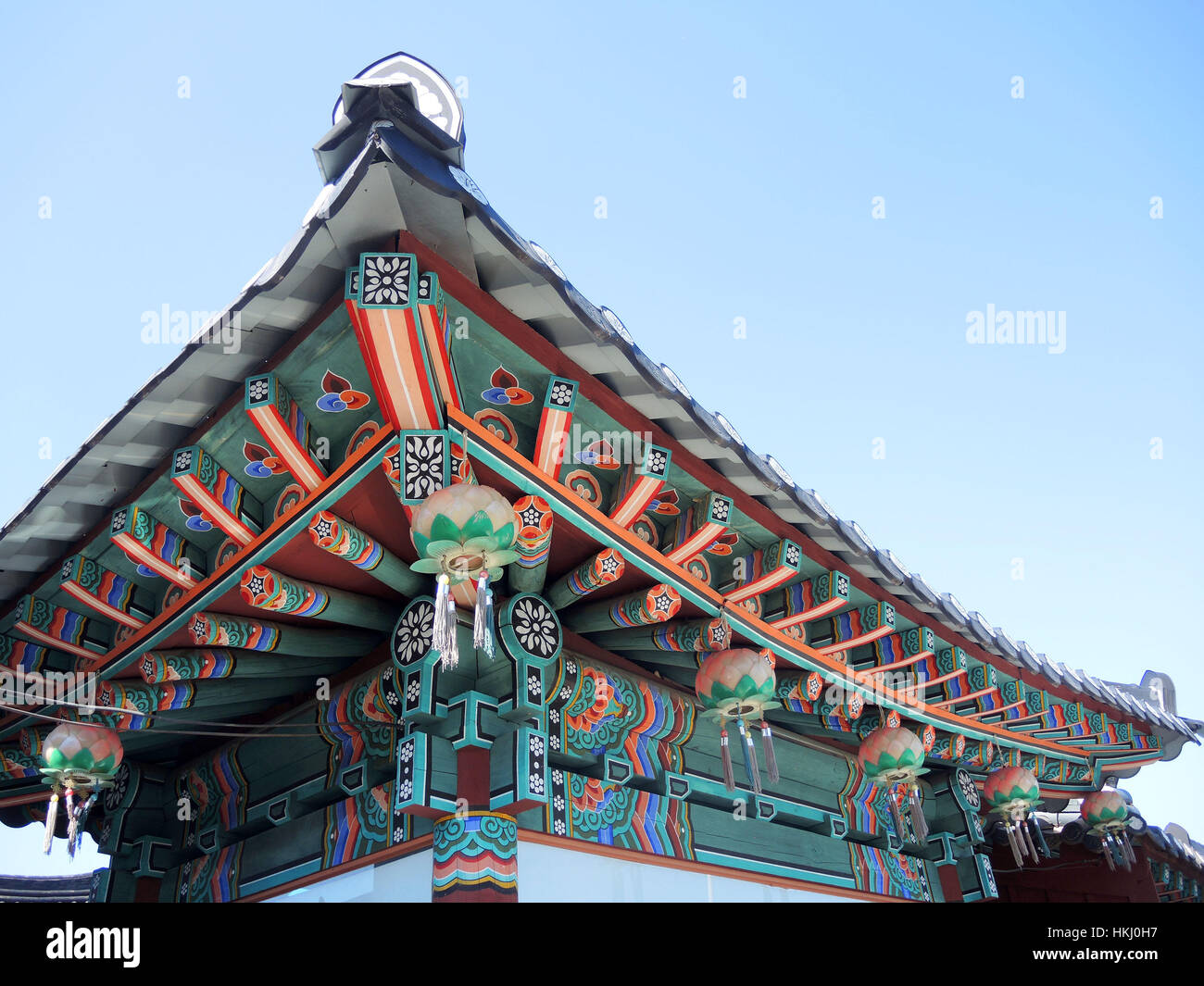 Korean Traditional Architecture Detail Of Roof Top