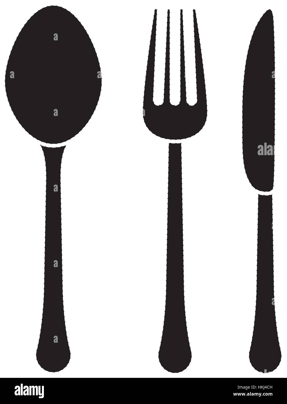 spoon knife fork cutlery icon image vector illustration