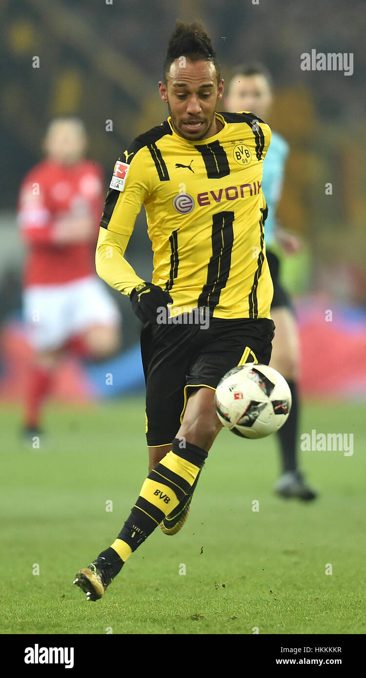 Dortmund s Pierre Emerick Aubameyang in action during the