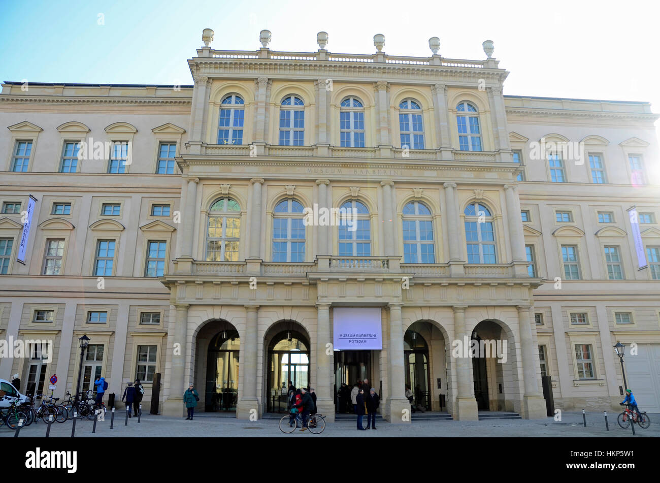 the palais barberini alter markt in potsdam museum exhibition stock photo royalty free. Black Bedroom Furniture Sets. Home Design Ideas