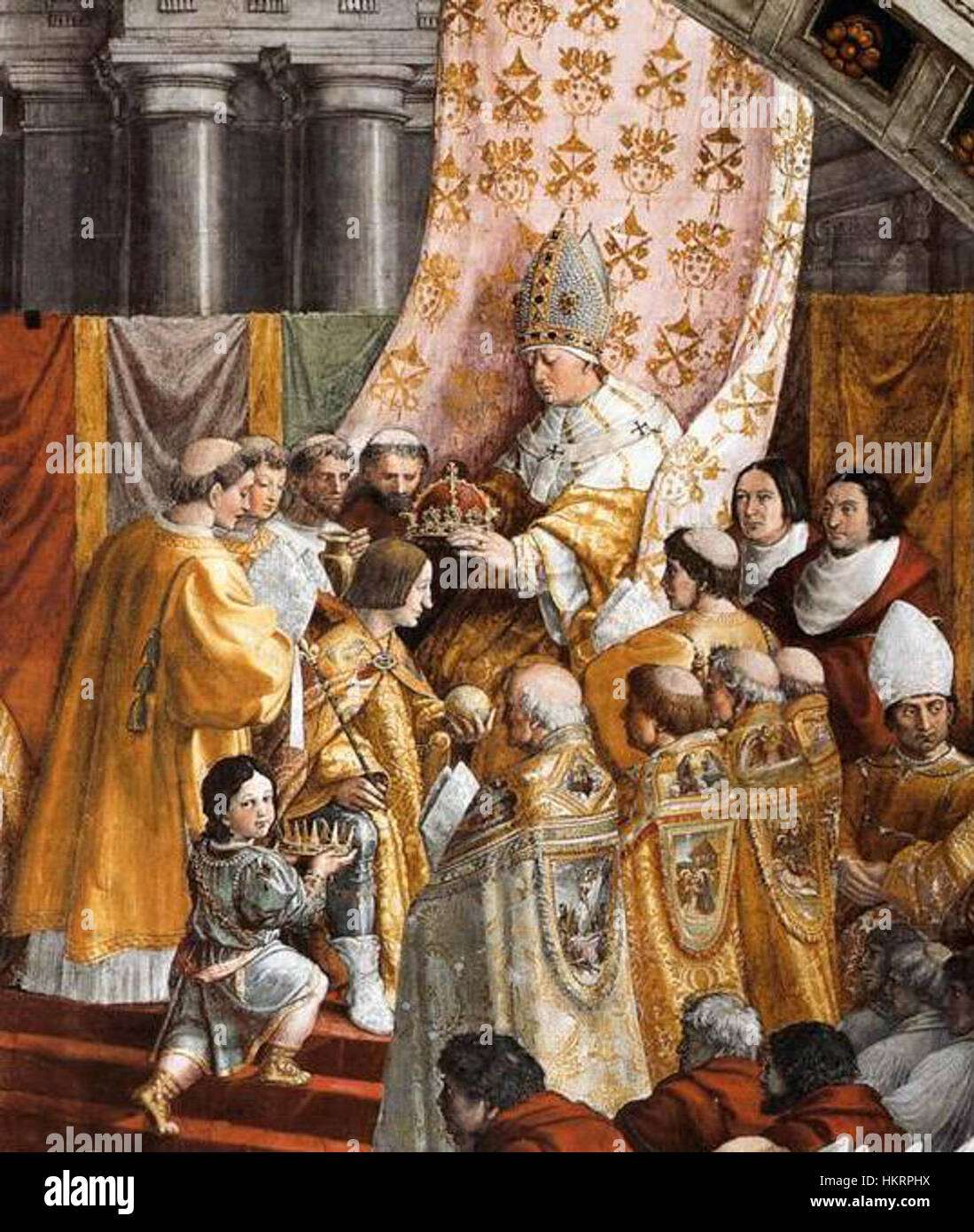 charlemagne coronation The coronation of charlemagne is a painting by the workshop of the italian renaissance artist raphael though it is believed that raphael did make the designs for the.