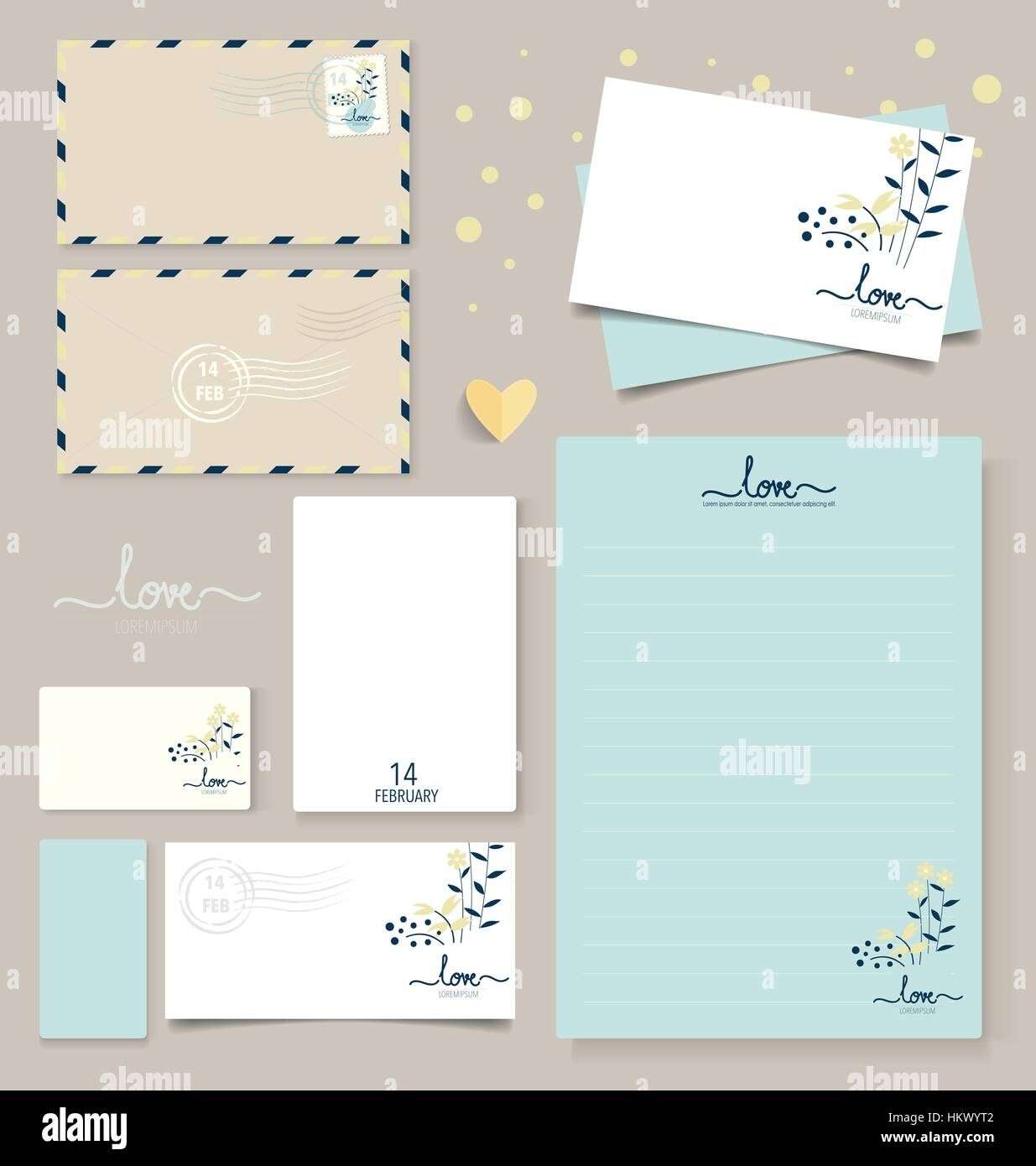Collection Of Various Paper Designs (paper Sheets, Lined Paper, Note Paper,  Postcard And Envelope  Collection Note