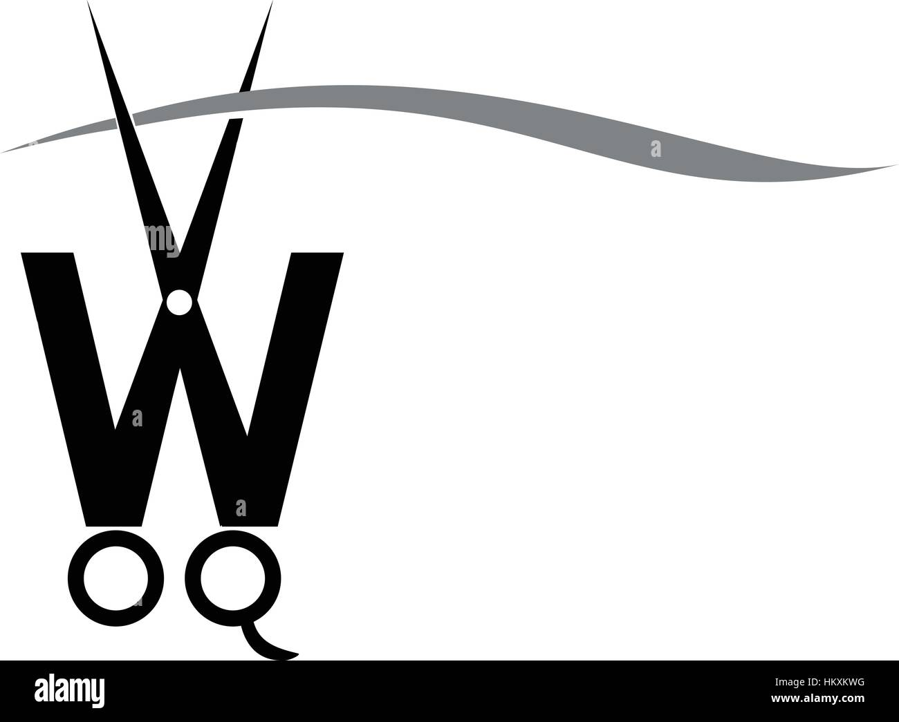 Letter w with scissor stock vector art illustration vector letter w with scissor biocorpaavc