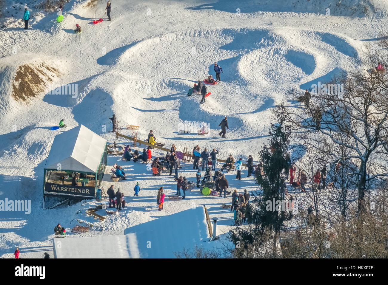 Moguls Of The Bike Park Warstein Am Rabennest Skiers Tobogganing