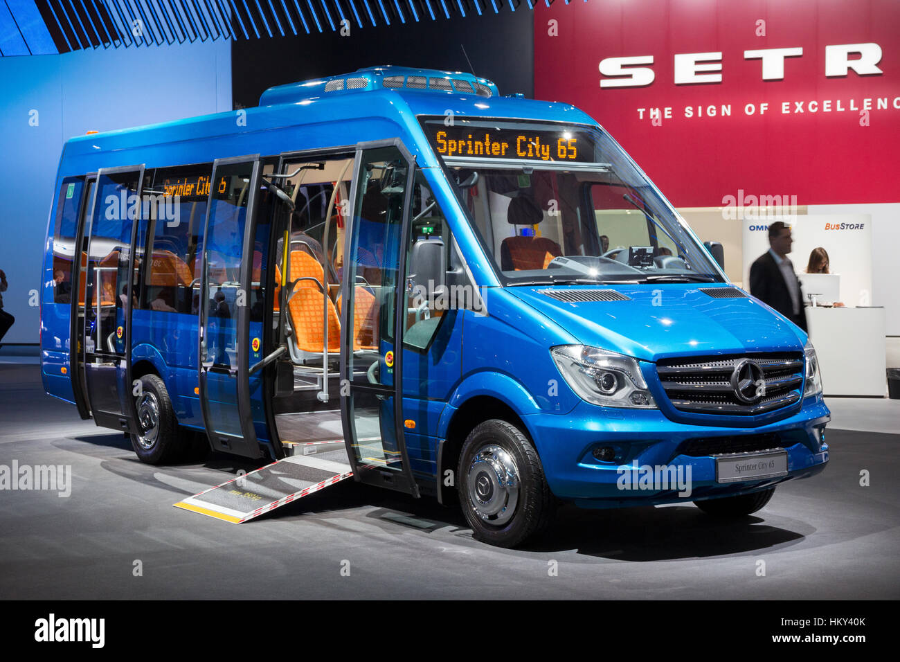Hannover germany sep 21 2016 mercedes benz sprinter city 65 minibus presented at the international motor show for commercial vehicles