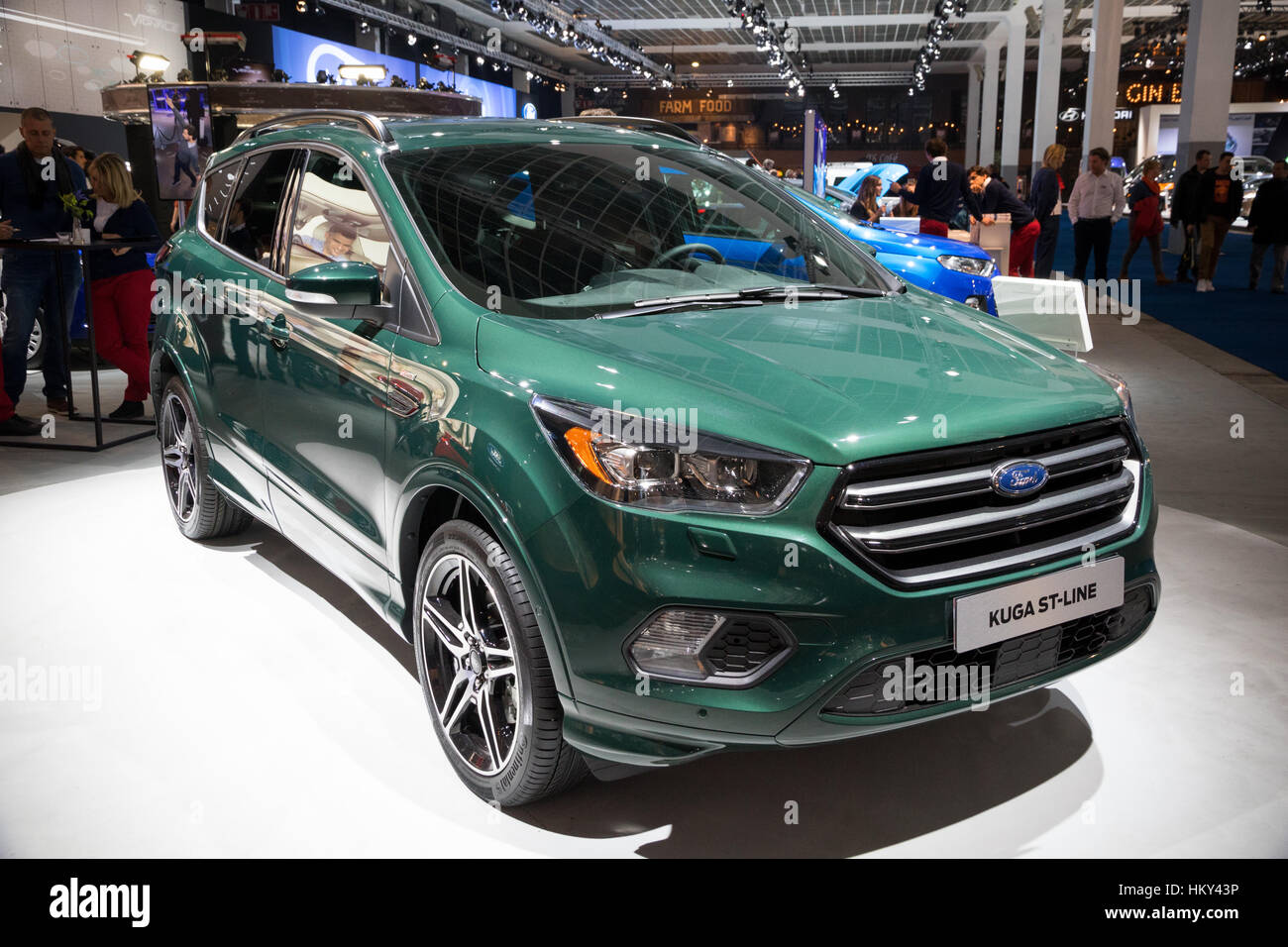 brussels jan 19 2017 new 2017 ford kuga st line presented at the stock photo royalty free. Black Bedroom Furniture Sets. Home Design Ideas