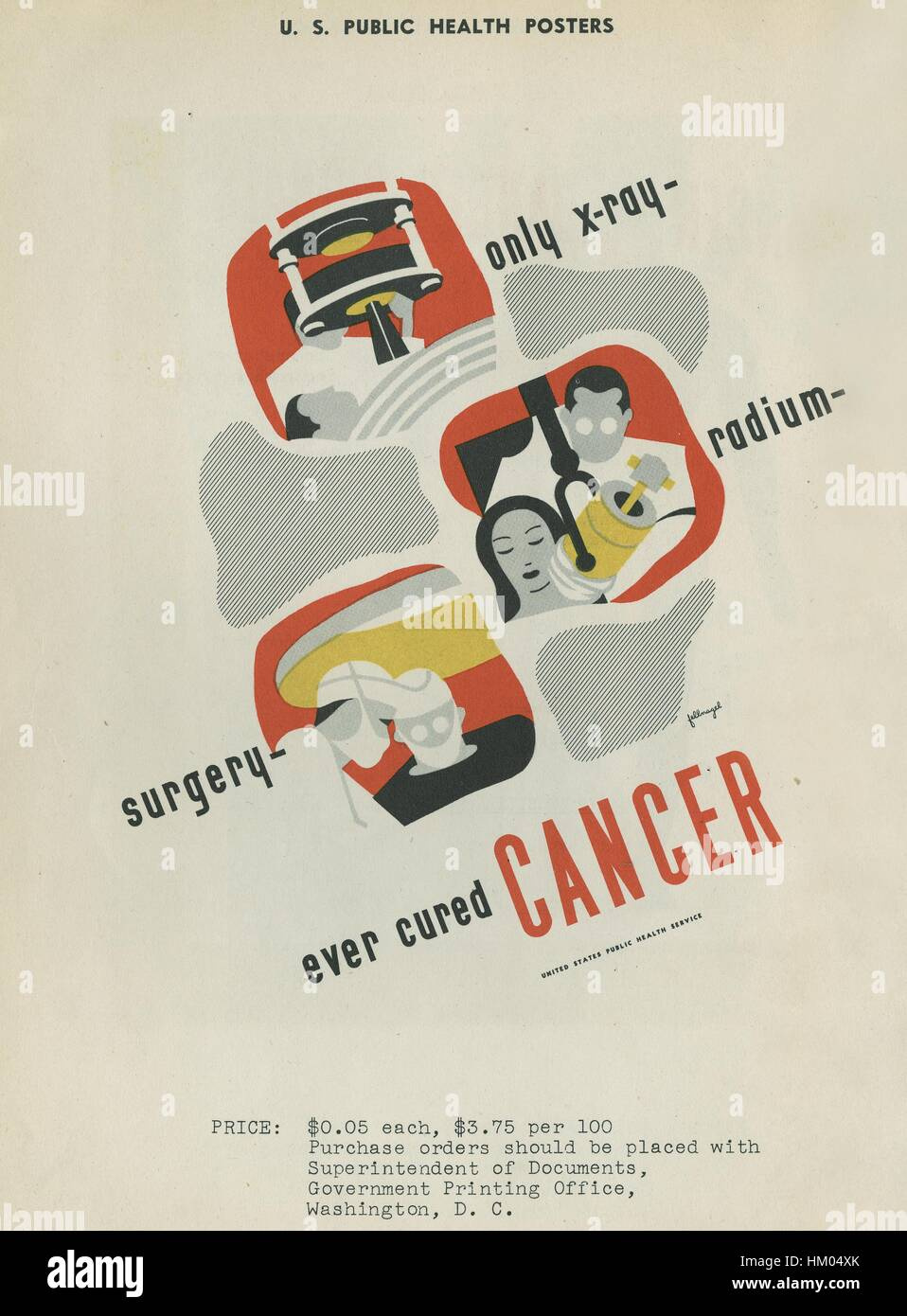 X ray poster design - Poster For The Only X Ray Radium Surgery That Ever Cured Cancer From The United States Public Health Service 1940 Courtesy National Library Of