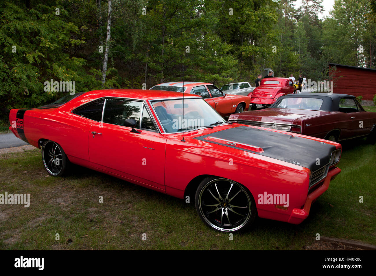 Car meet with American muscle cars in Sweden Stock Photo: 132783734 ...