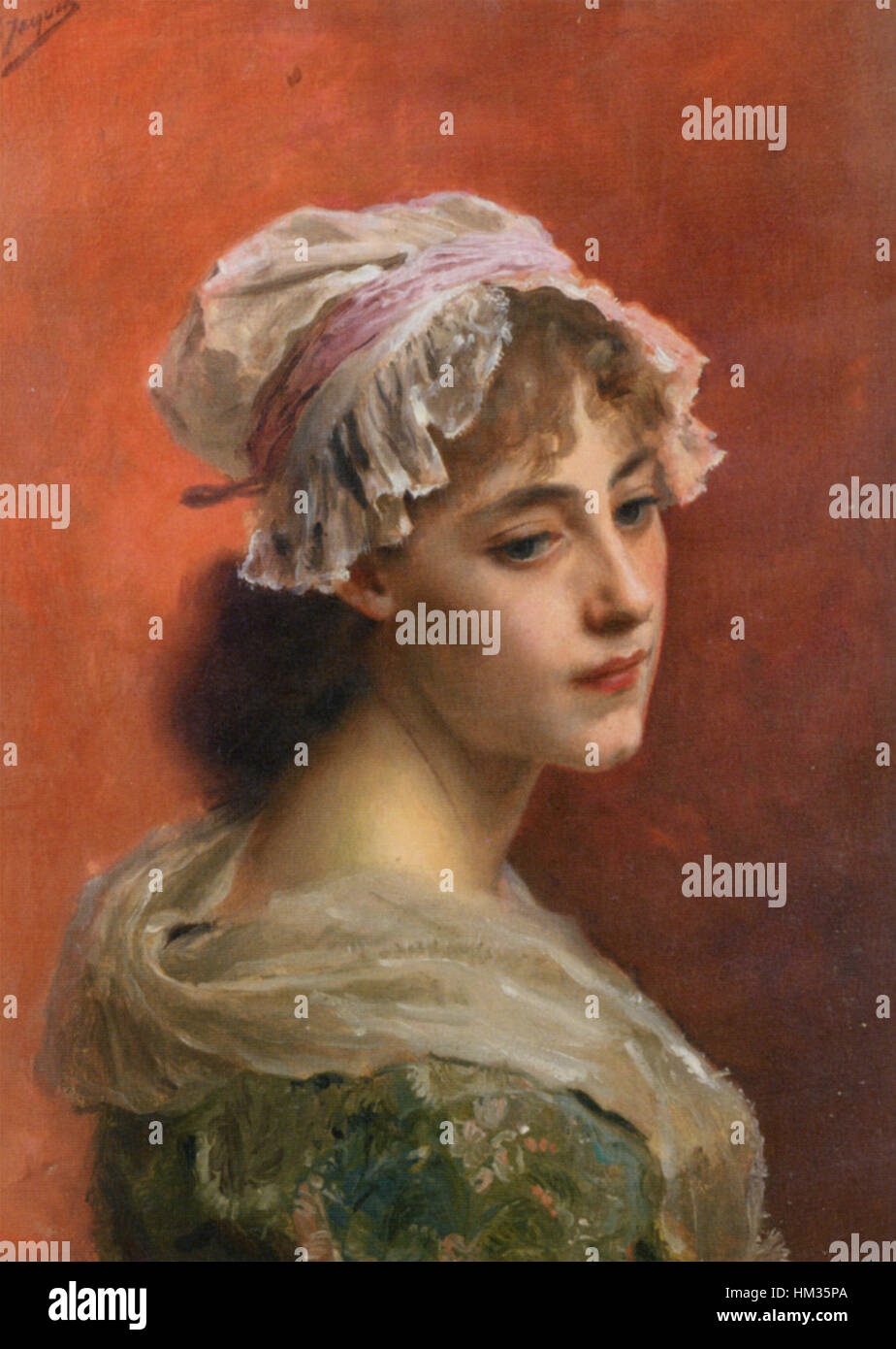 Gustave Jean Jacquet - Lost in thought Stock Photo, Royalty Free ...