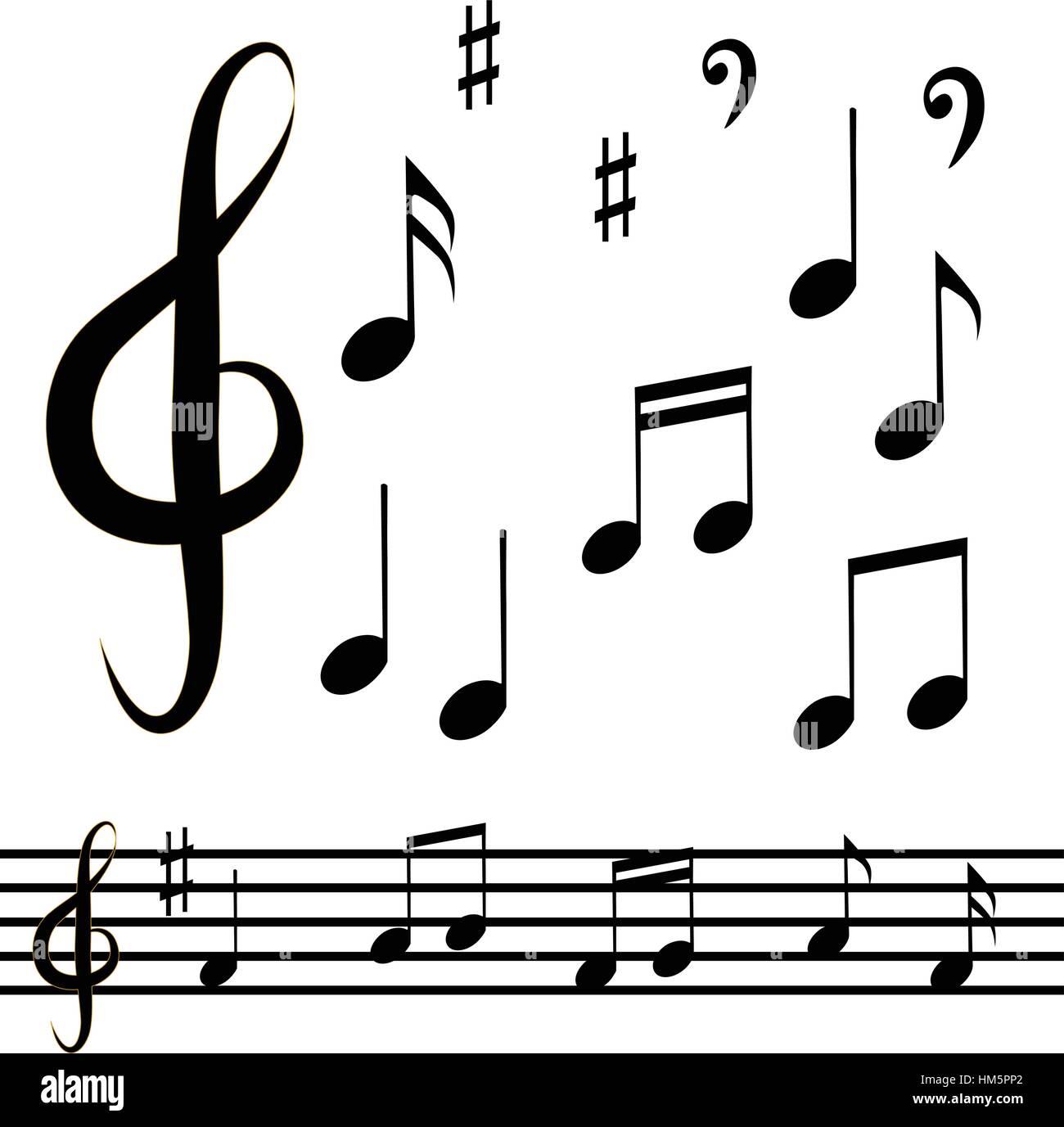 music note background vector eps 10 stock vector art