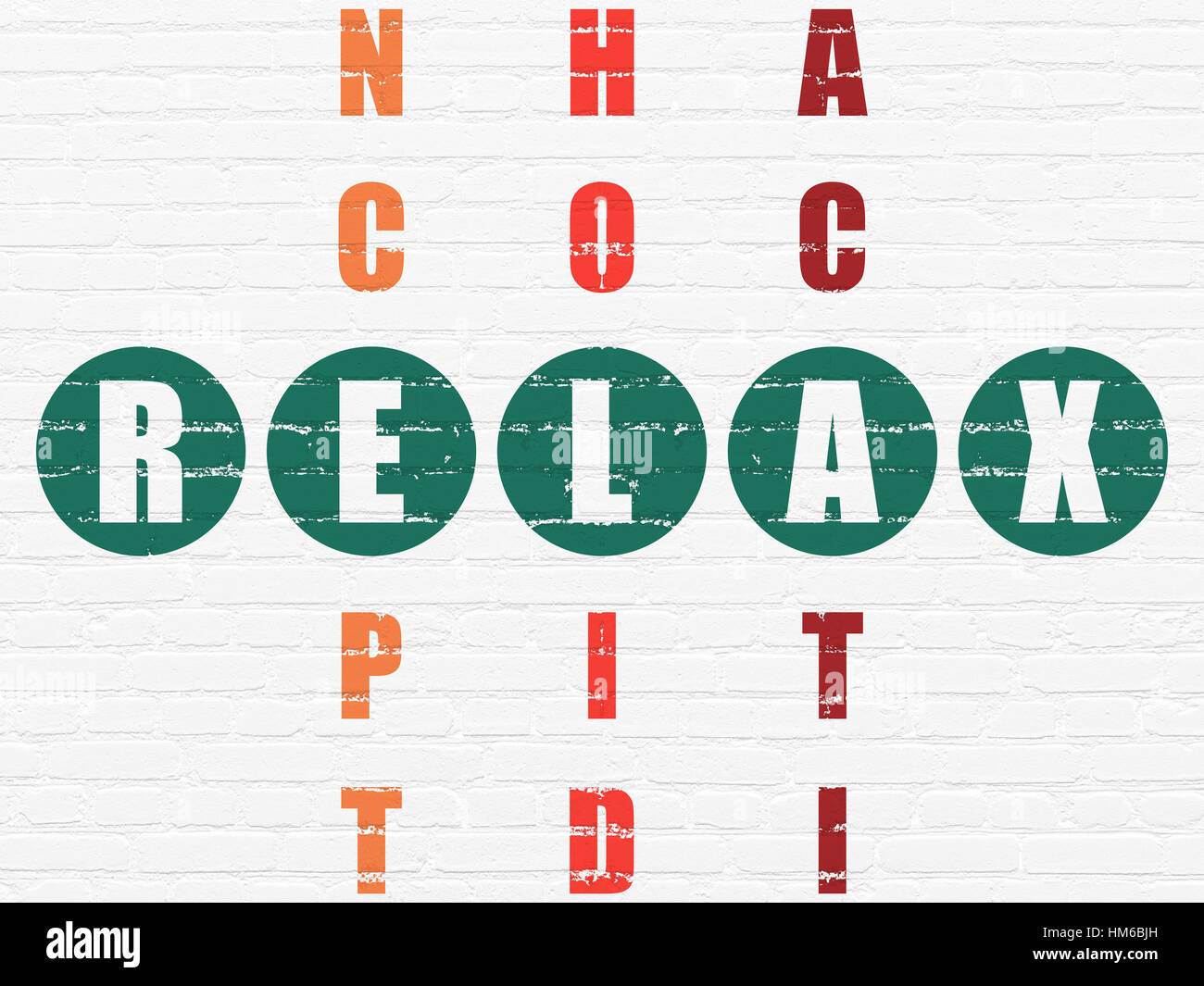 Entertainment concept painted green word relax in solving entertainment concept painted green word relax in solving crossword puzzle biocorpaavc
