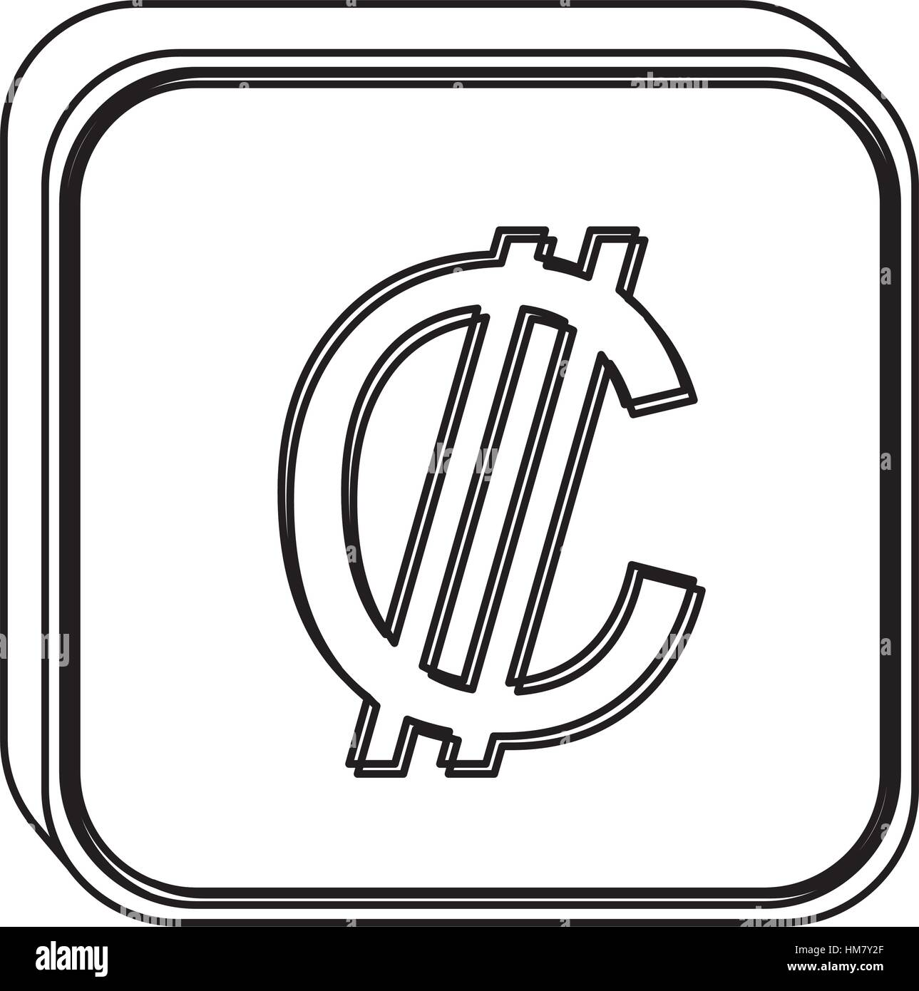 Monochrome square contour with currency symbol of colon costa rica monochrome square contour with currency symbol of colon costa rica vector illustration biocorpaavc Gallery
