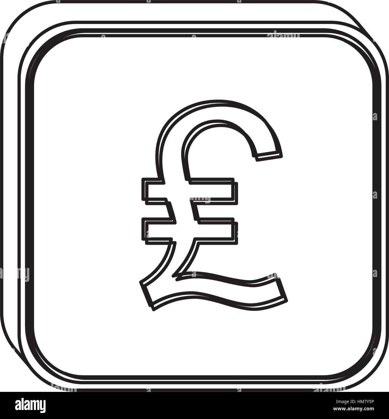 Monochrome square contour with currency symbol of lira italy vector monochrome square contour with currency symbol of lira italy vector illustration biocorpaavc Image collections