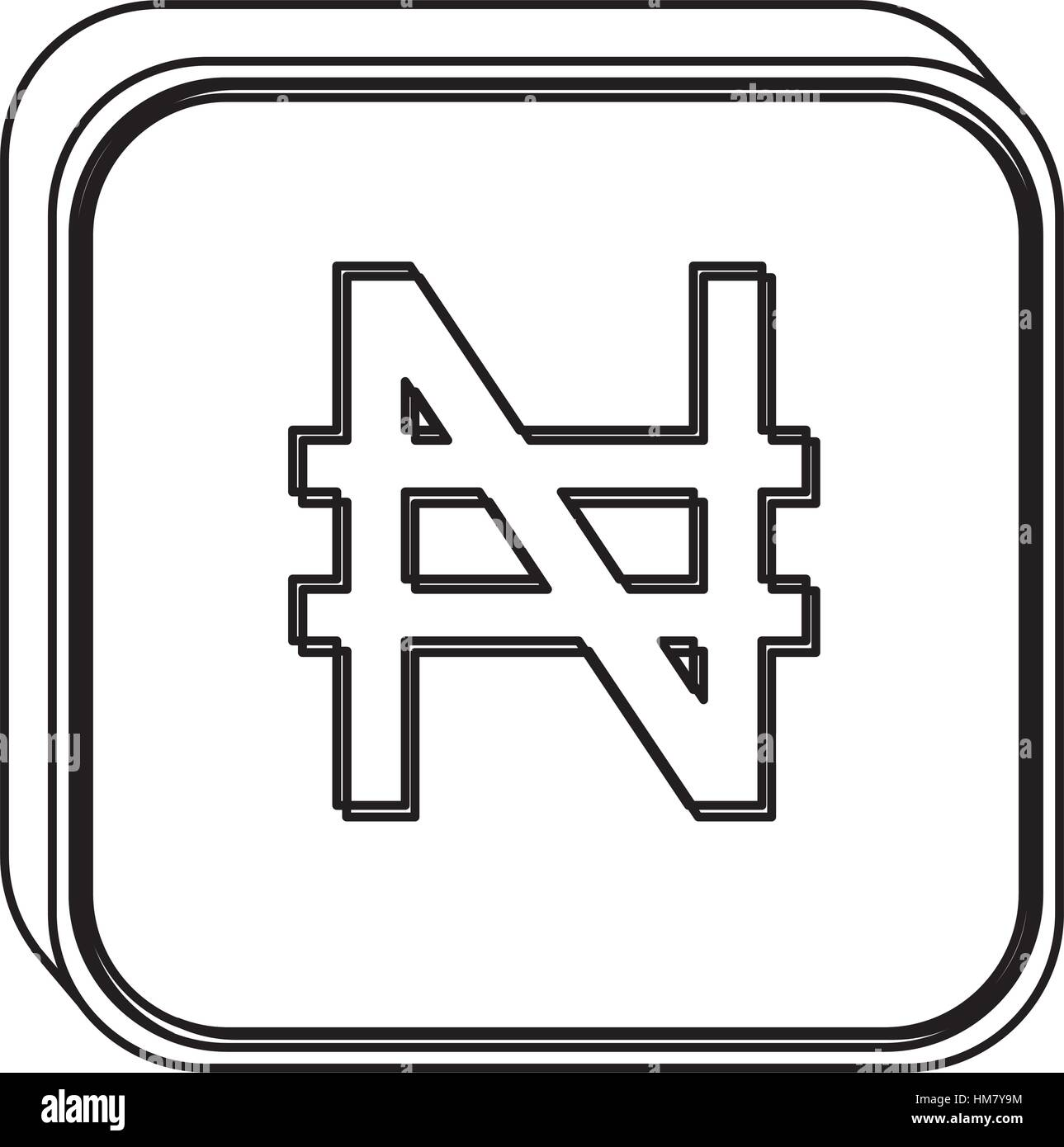 Ngn currency symbol choice image symbol and sign ideas monochrome square contour with currency symbol of nigerian naira monochrome square contour with currency symbol of biocorpaavc