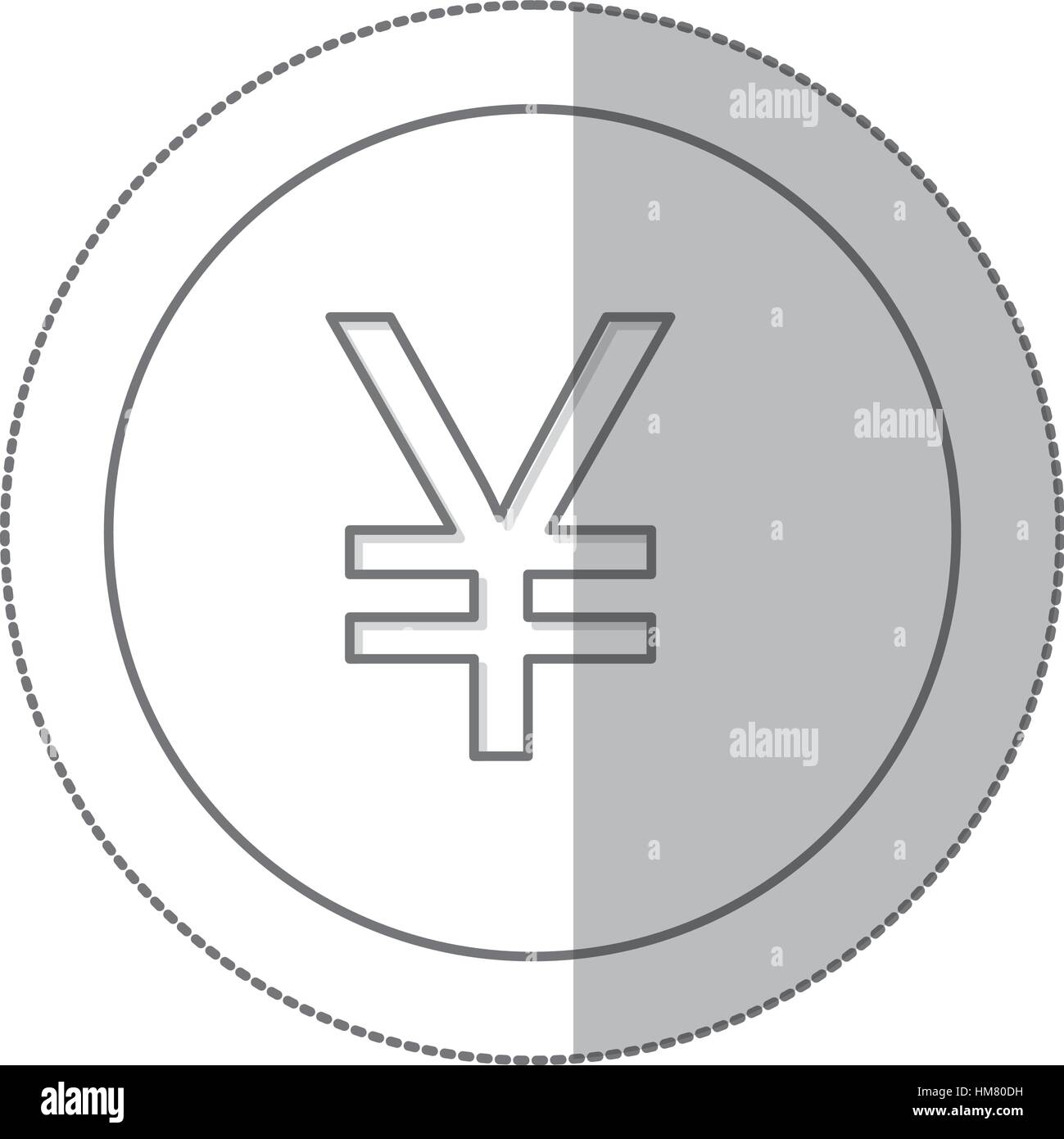 Middle shadow monochrome circle with currency symbol of china middle shadow monochrome circle with currency symbol of china vector illustration biocorpaavc Choice Image