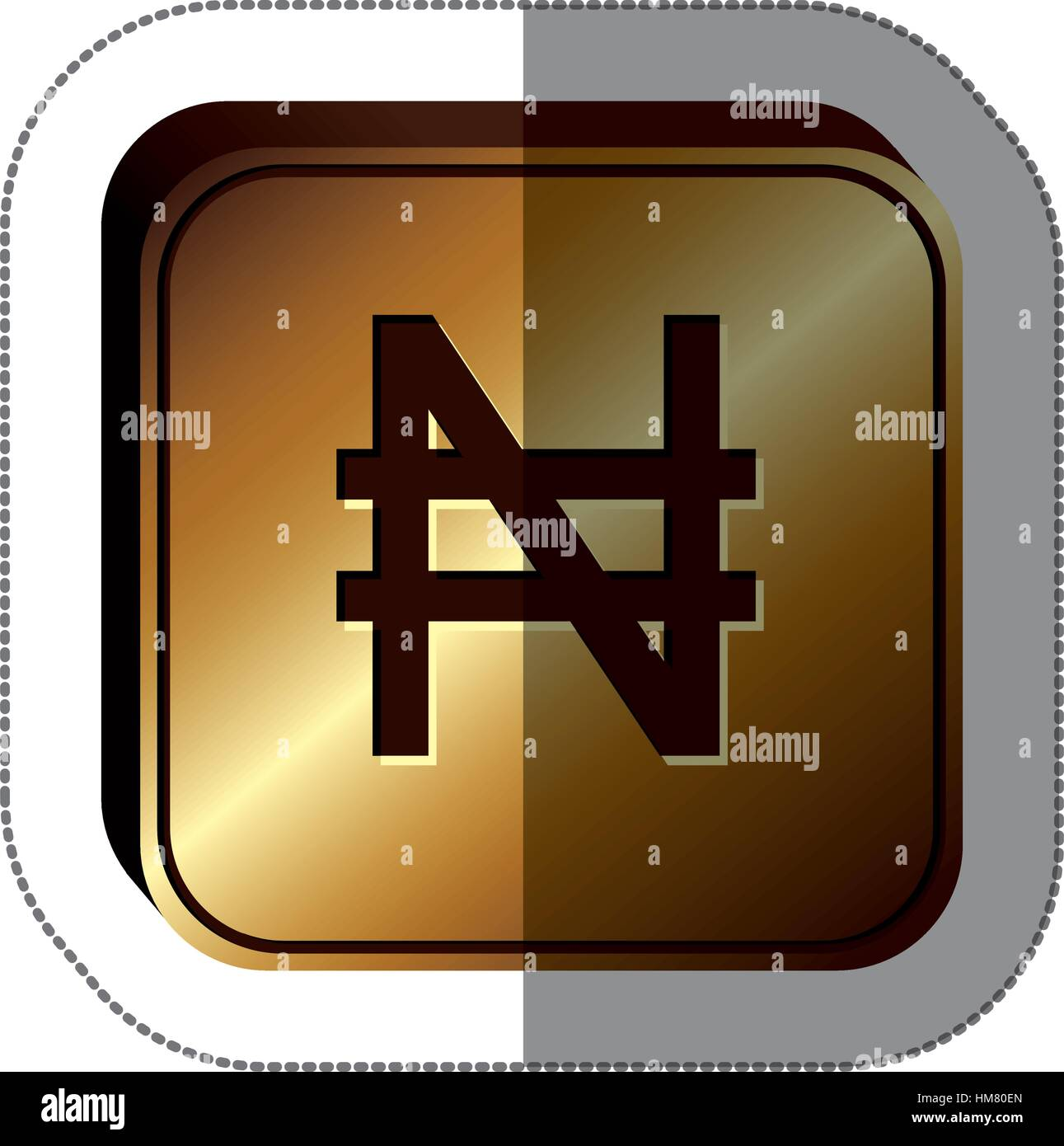Ngn currency symbol choice image symbol and sign ideas sticker golden square with currency symbol of nigerian naira sticker golden square with currency symbol of biocorpaavc