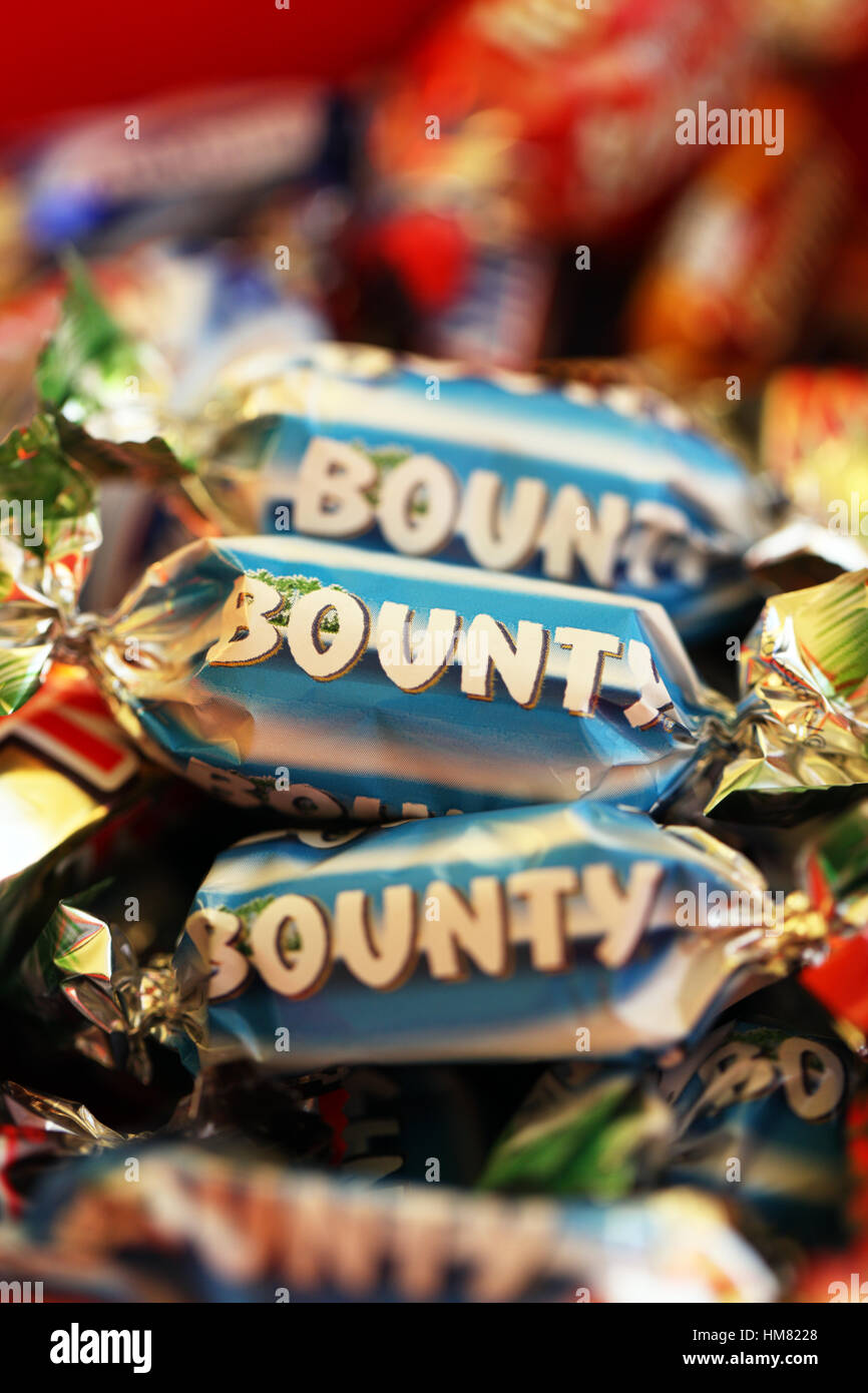 Mars bars stock photos mars bars stock images alamy bounty bars part of the mars celebrations selection stock image buycottarizona Gallery
