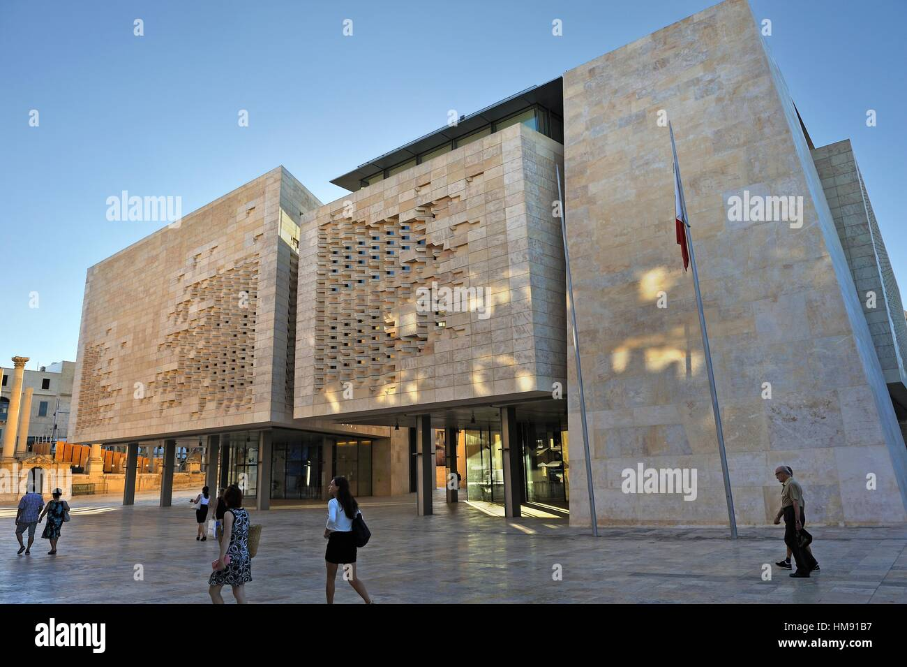 City Of South Gate >> new Parliament House designed by Renzo Piano, City Gate project Stock Photo, Royalty Free Image ...