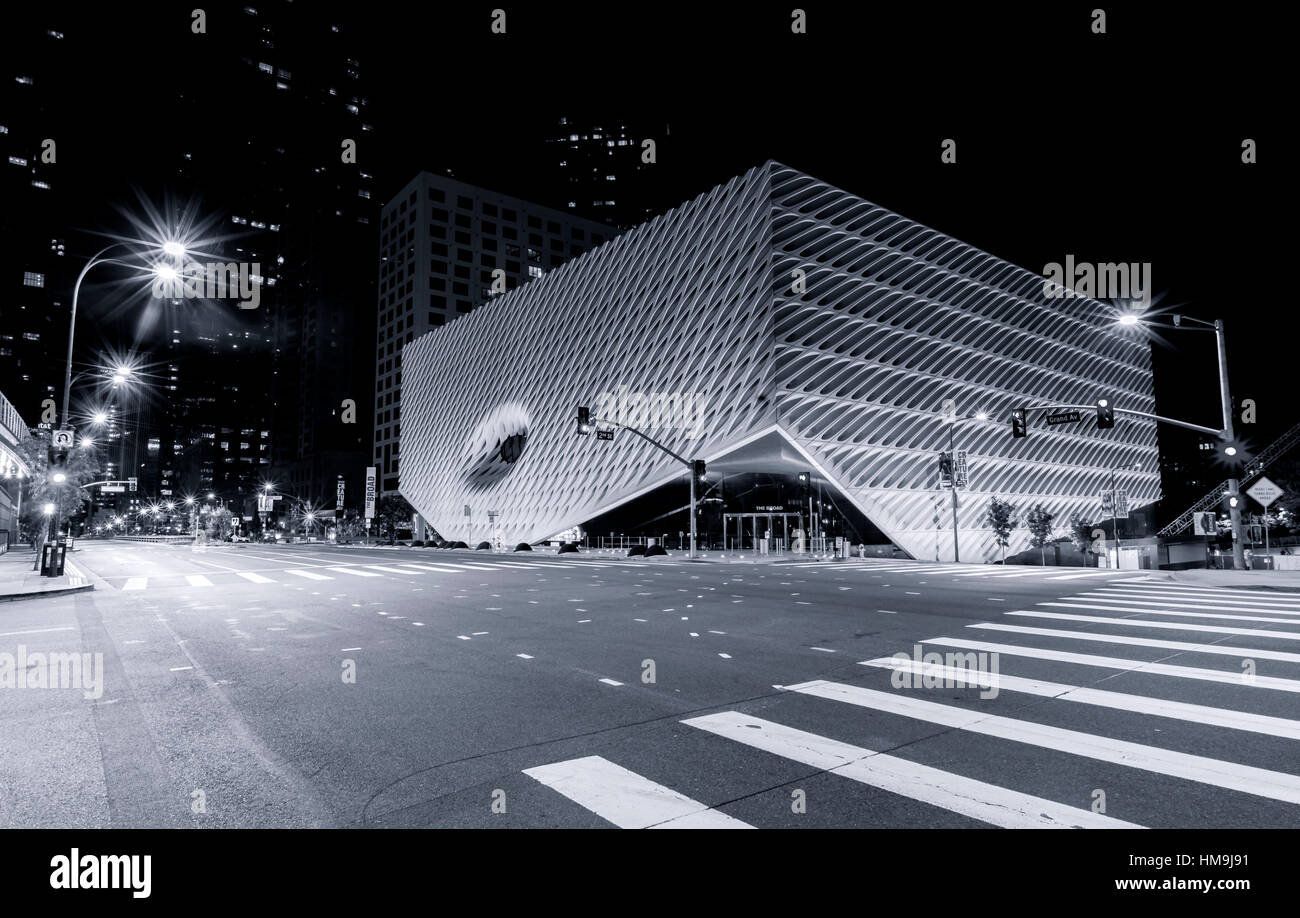 The Broad New Contemporary Art Museum In LA Black  White Ver - Black museums in usa
