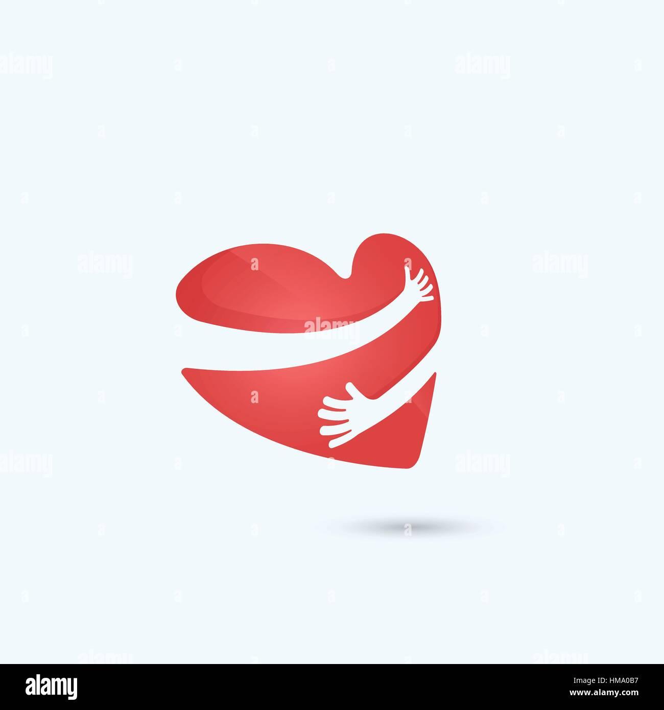 Hug yourself logolove yourself logolove and heart care icon hug yourself logolove yourself logolove and heart care iconheart shape and healthcare medical conceptctor illustration buycottarizona