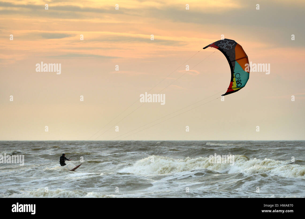 2nd february 2017 kite surfers taking advantage of windy