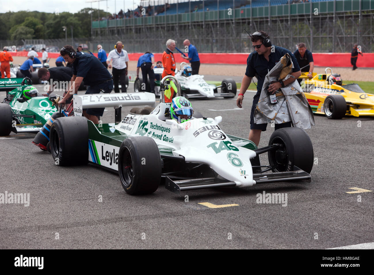 On the starting grid of the 2016 FIA Masters Historic Formula One ...