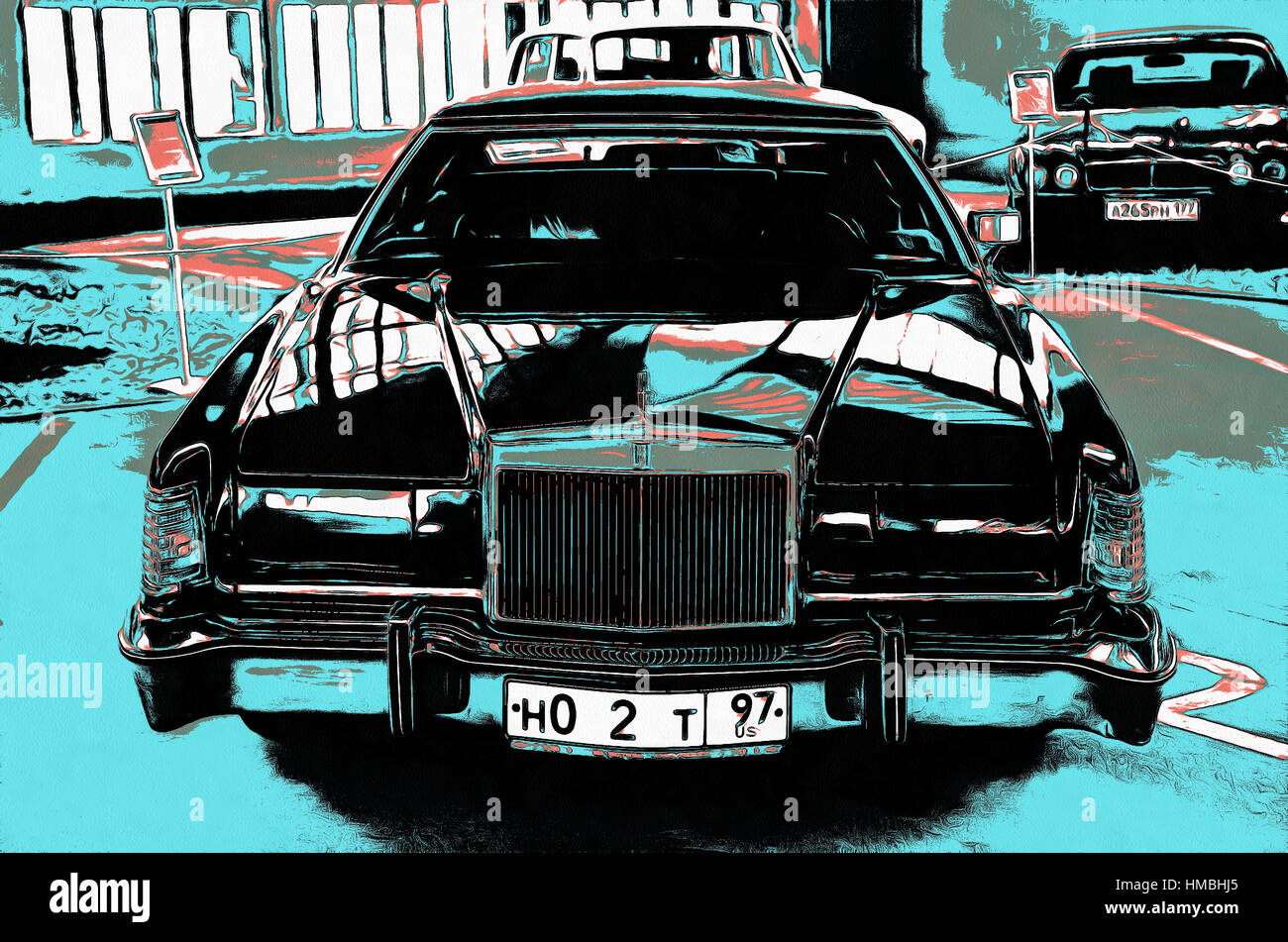 Illustrations Lincoln Continental Mark IV twodoor personal