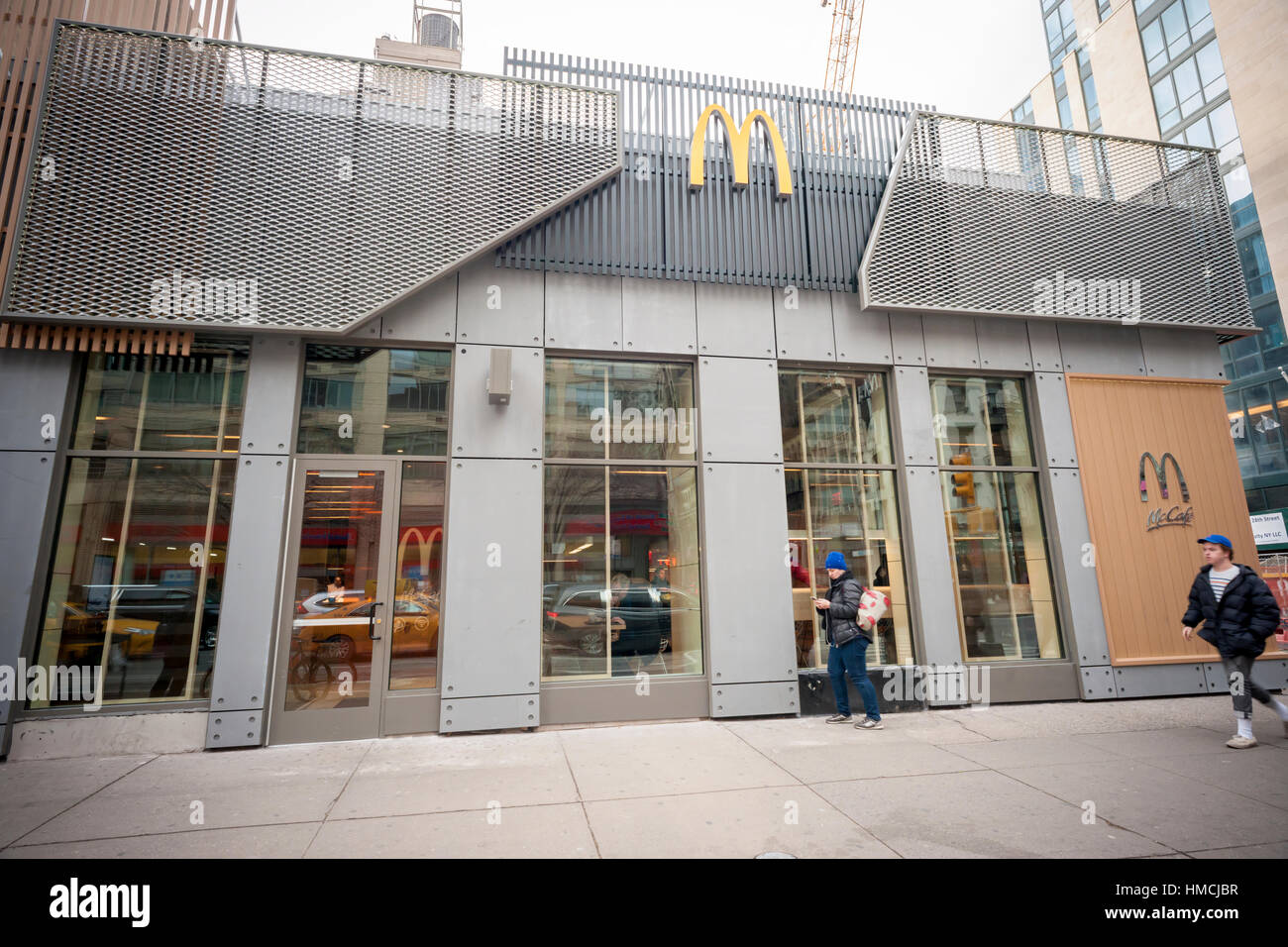 A Prototype Mcdonald 39 S In New York Upscaling With Minimalist Decor Stock Photo Royalty Free