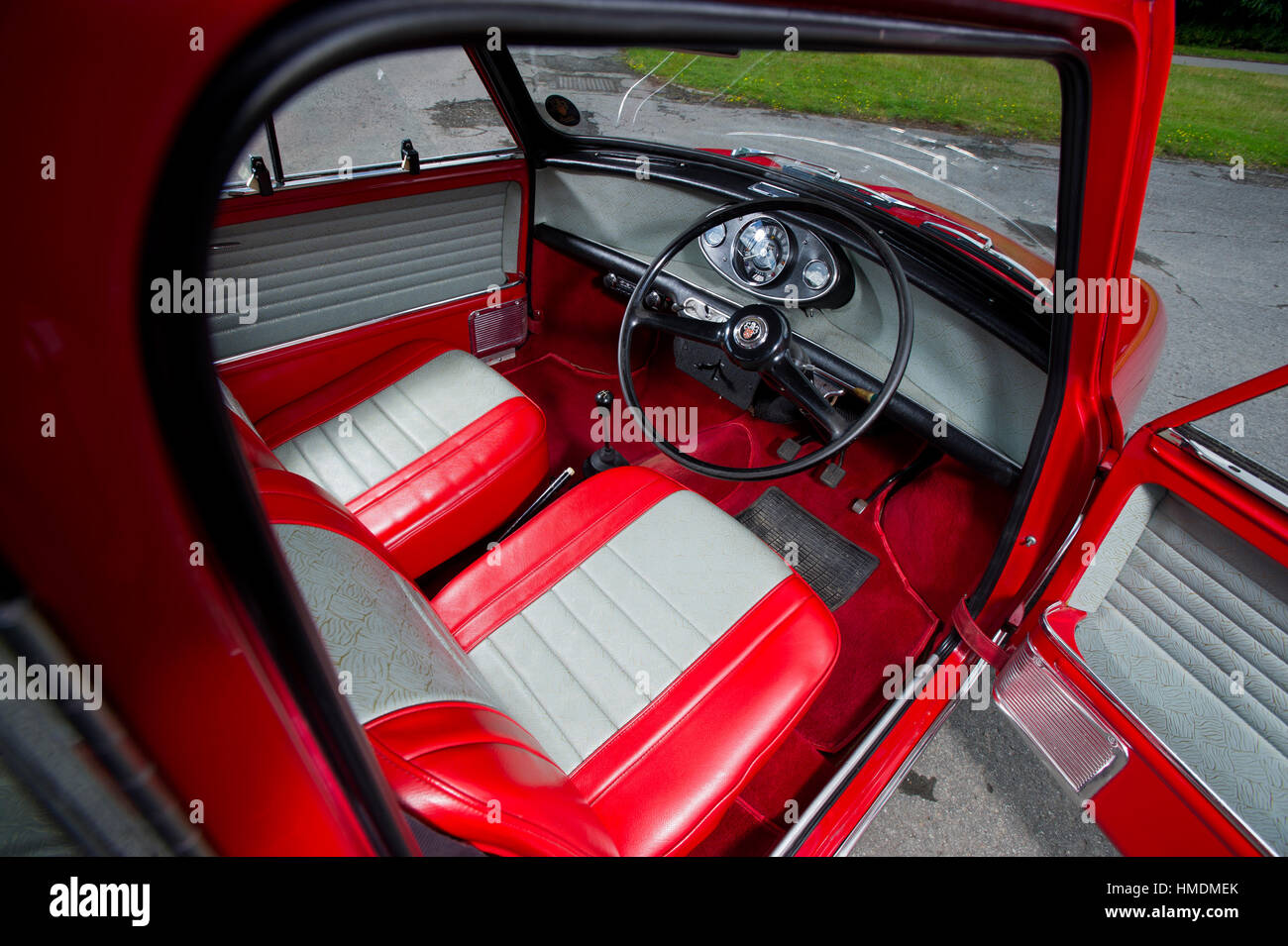 1968 mini cooper s classic compact british sports car basic interior stock photo royalty free. Black Bedroom Furniture Sets. Home Design Ideas