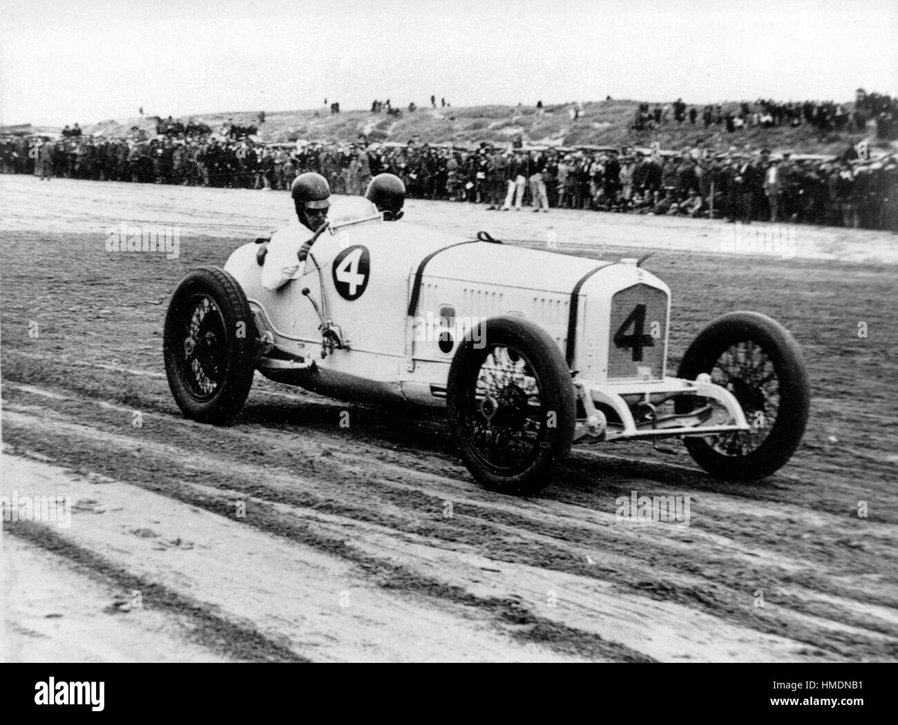 Vintage Car Racing Black and White Stock Photos & Images - Alamy