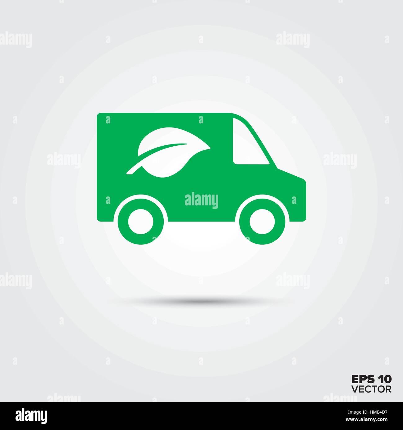 Green van with leaf symbol vector icon eco friendly low emission green van with leaf symbol vector icon eco friendly low emission vehicle buycottarizona
