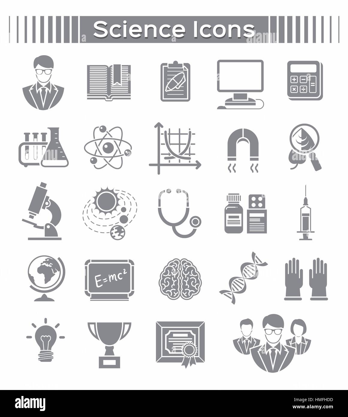 Set of silhouette vector icons of different scientific spheres such set of silhouette vector icons of different scientific spheres such as math biology chemistry physics astronomy genetics as well as symbols of a buycottarizona Image collections