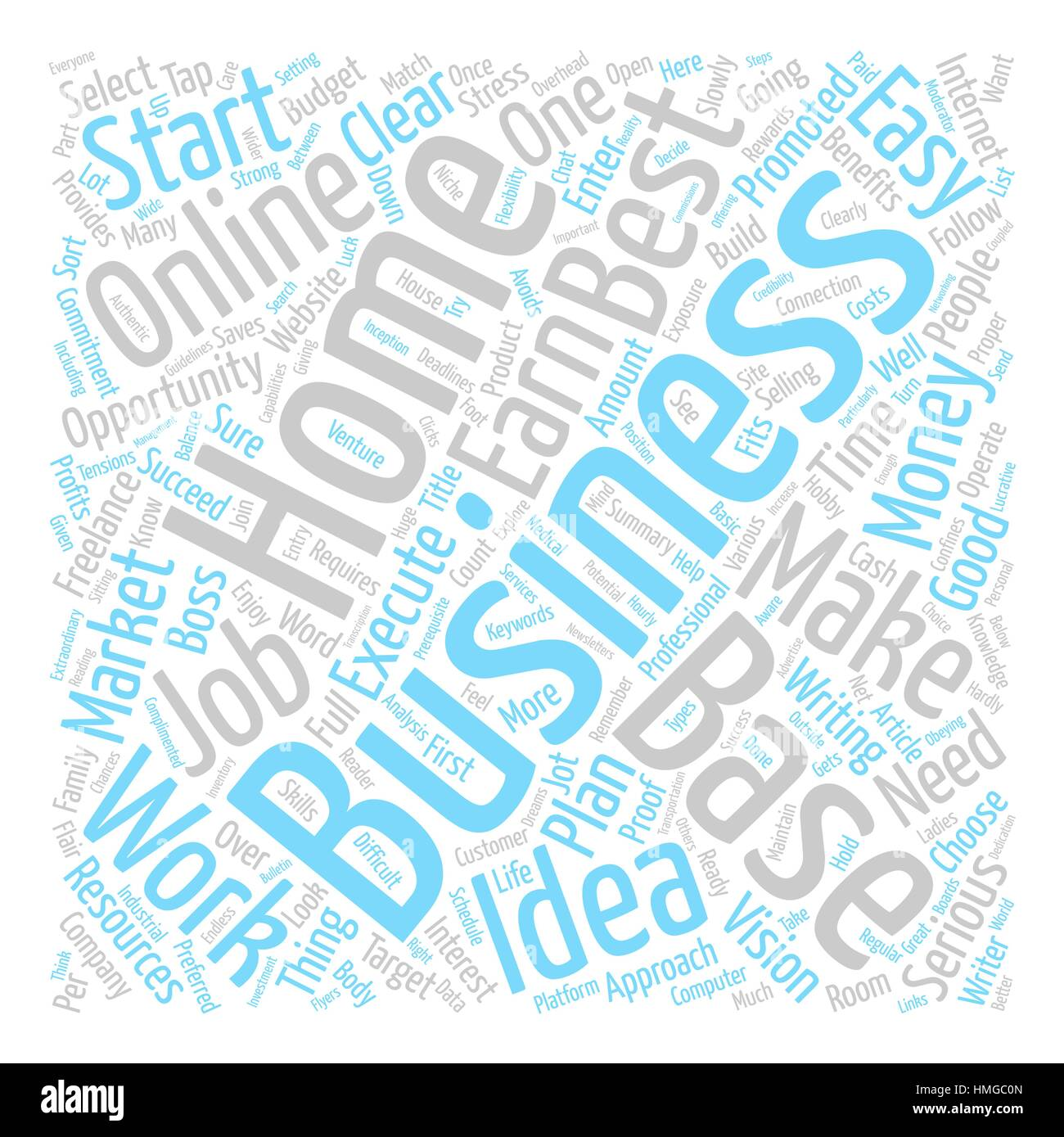 Easy To Start Home Based Business text background word cloud ...