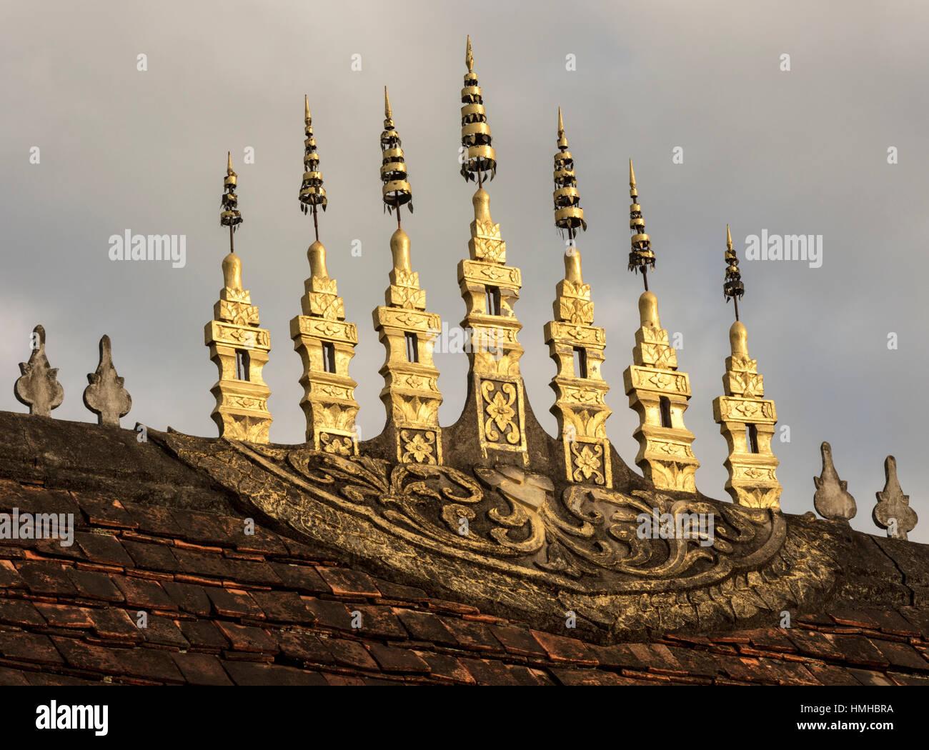 roof finials wat sensoukharam luang prabang laos - Roof Finials