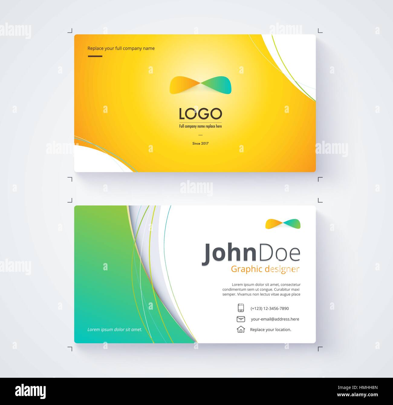 Business Card Template Include Sample Logo And Text Template - Sample business card template
