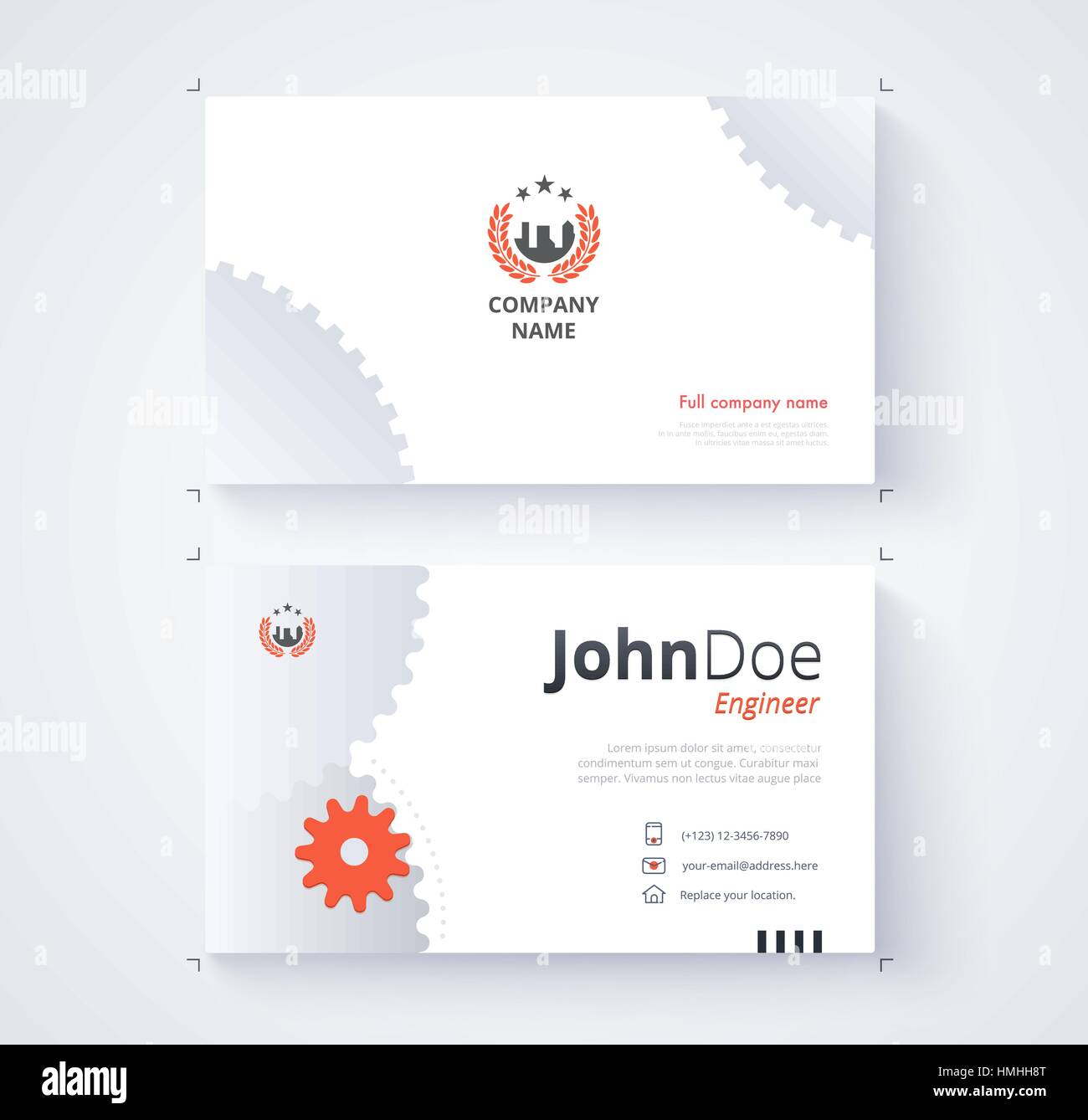 Engineer business card template gear background stock vector art engineer business card template gear background magicingreecefo Image collections
