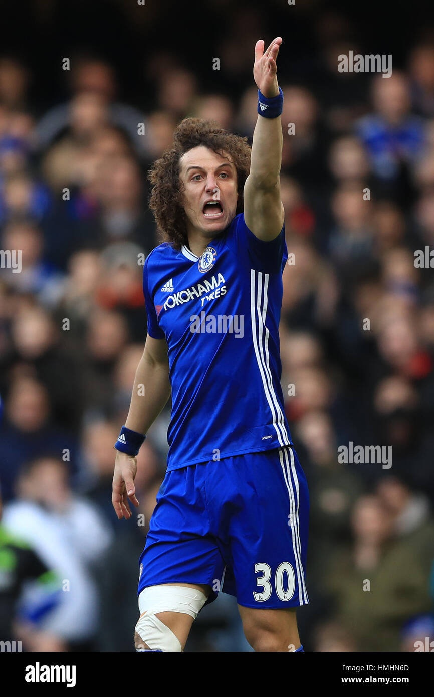 Chelsea s David Luiz during the Premier League match at Stamford