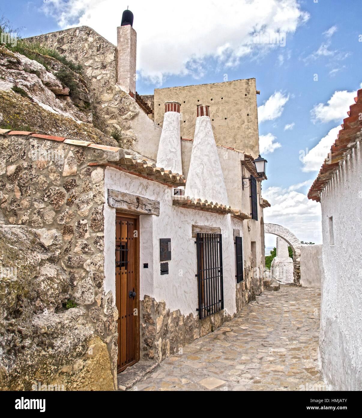 Casas cueva del agujero chinchilla de montearag n albacete espa a stock photo royalty free - Casas de citas en albacete ...