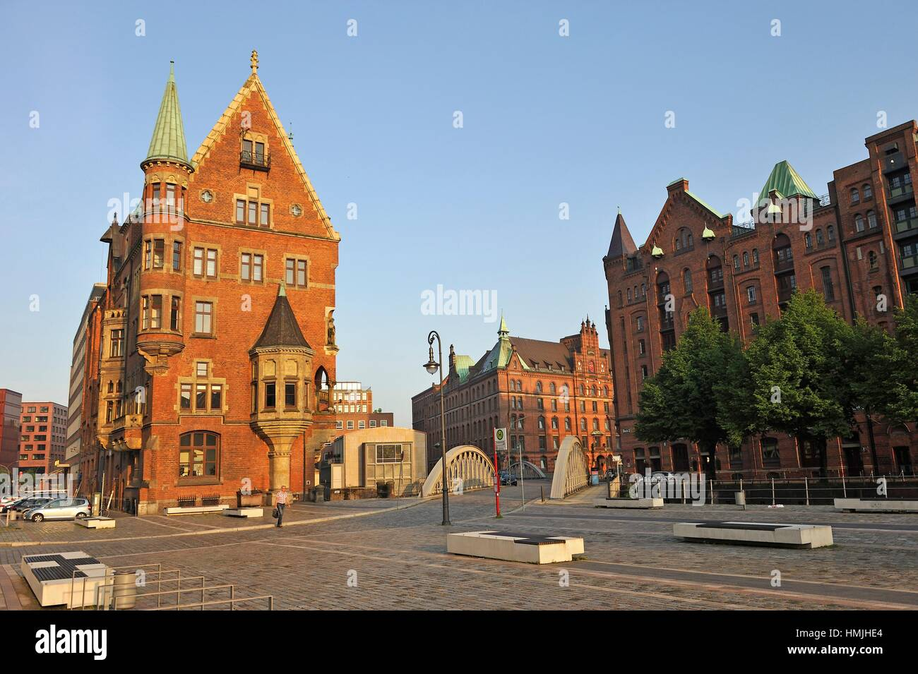 st annenplatz square in the speicherstadt city of. Black Bedroom Furniture Sets. Home Design Ideas